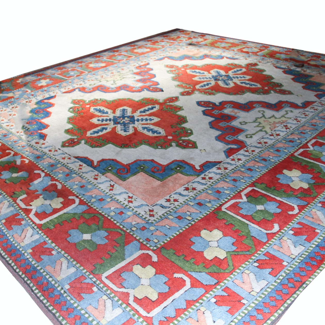 Contemporary Sculpted Wool Caucasian Area Rug