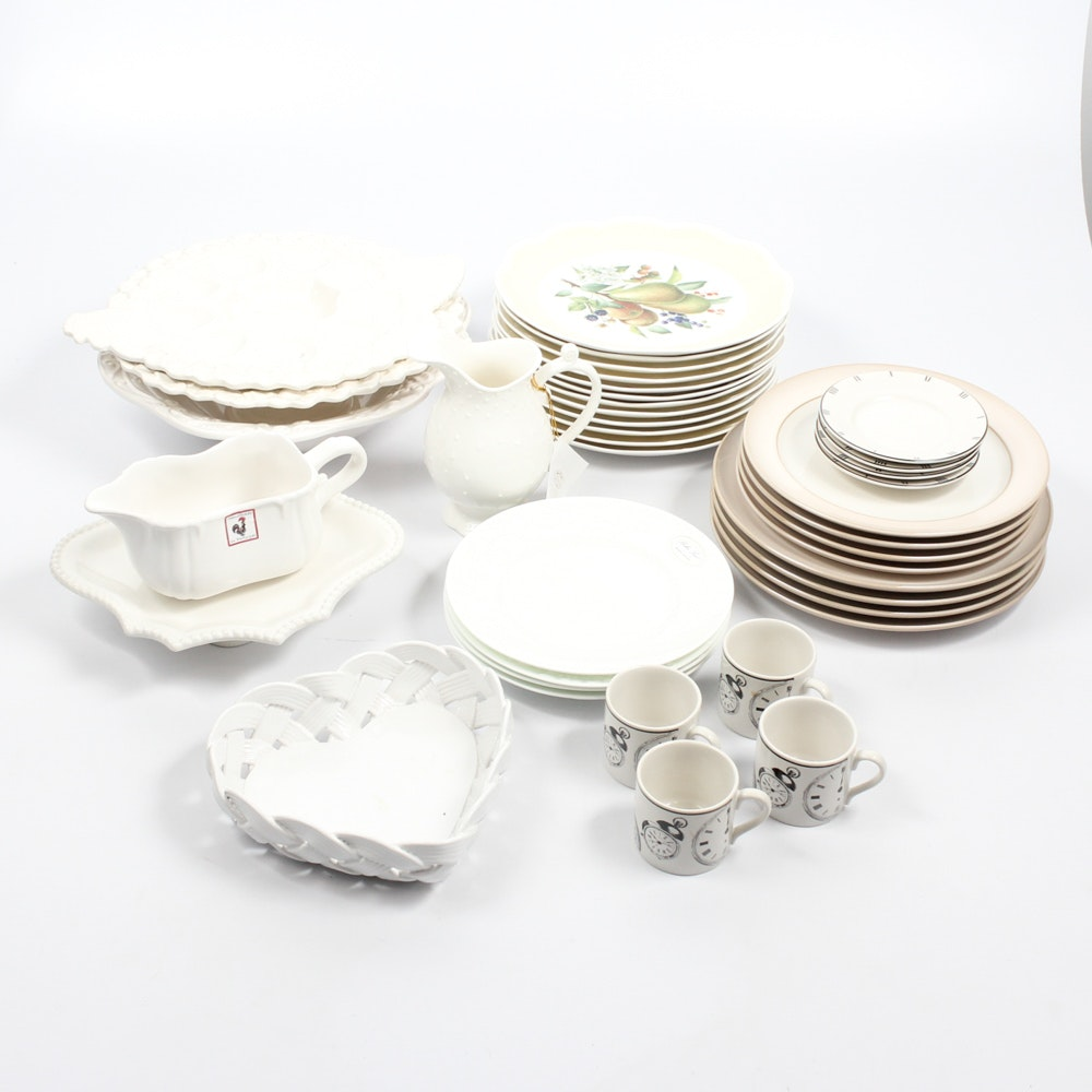 White China Collection Featuring Lenox