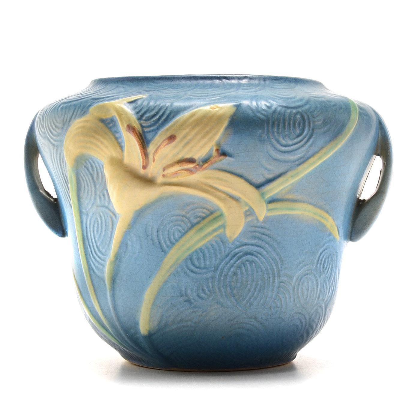 """Roseville Pottery """"Zephyr Lily"""" Vase"""
