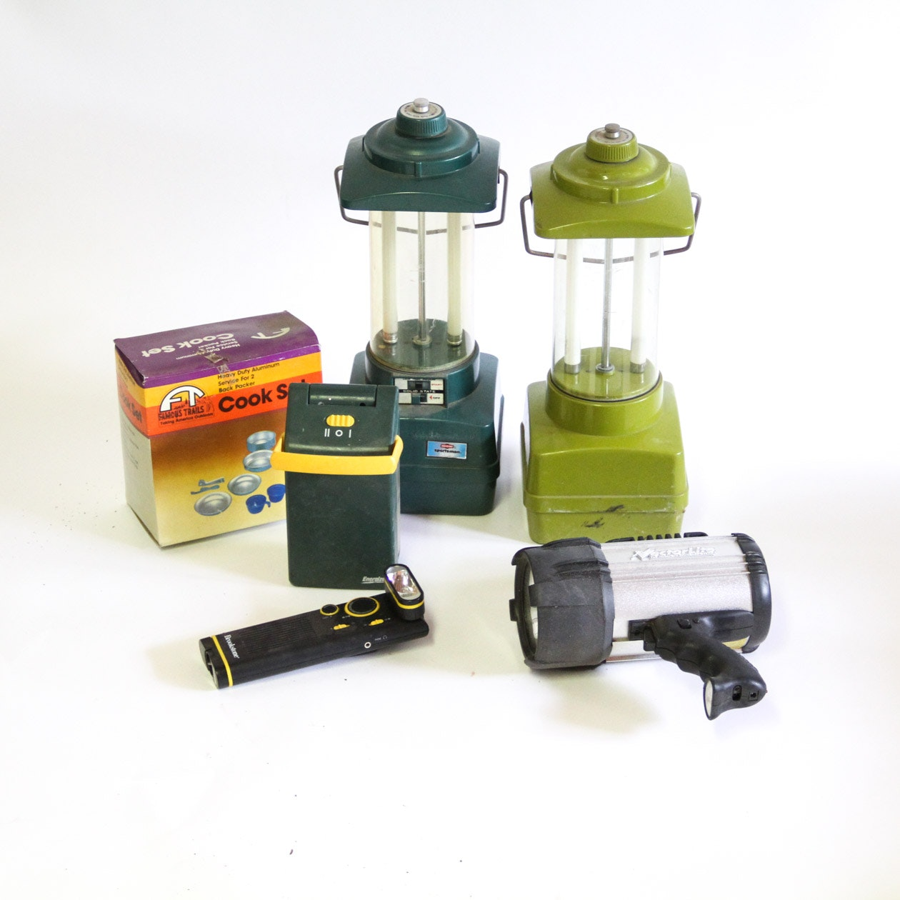 Collection of Camping Lanterns and Cook Set