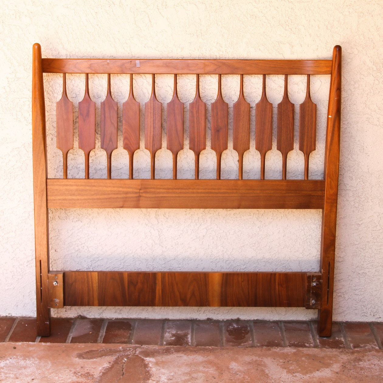Danish Modern Wooden Twin Headboard