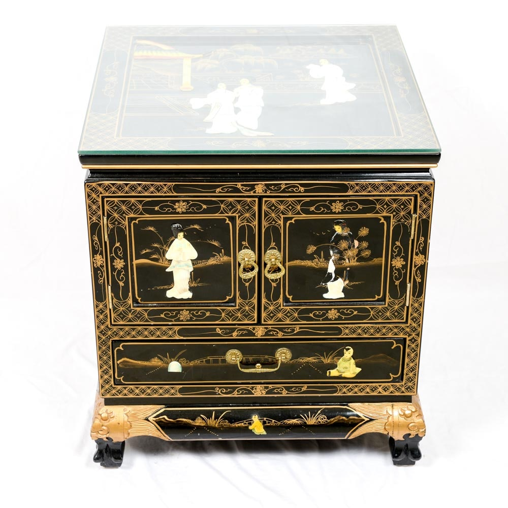 Chinoiserie Table with Shell Inlay