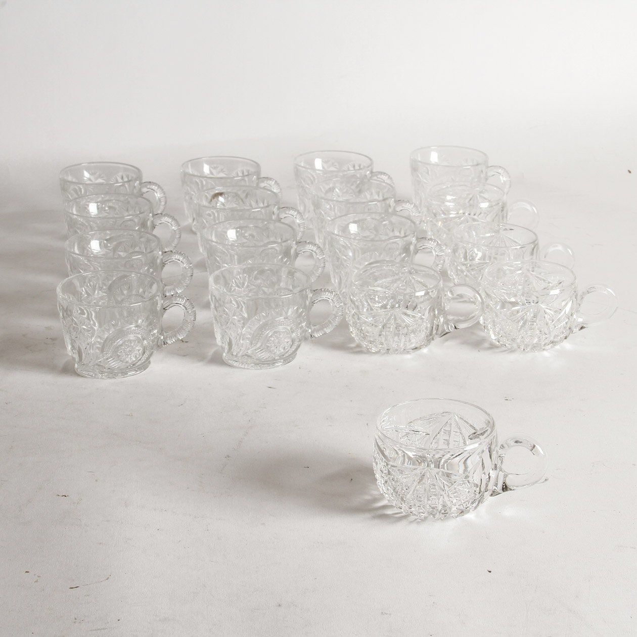 Collection of Glass Teacups