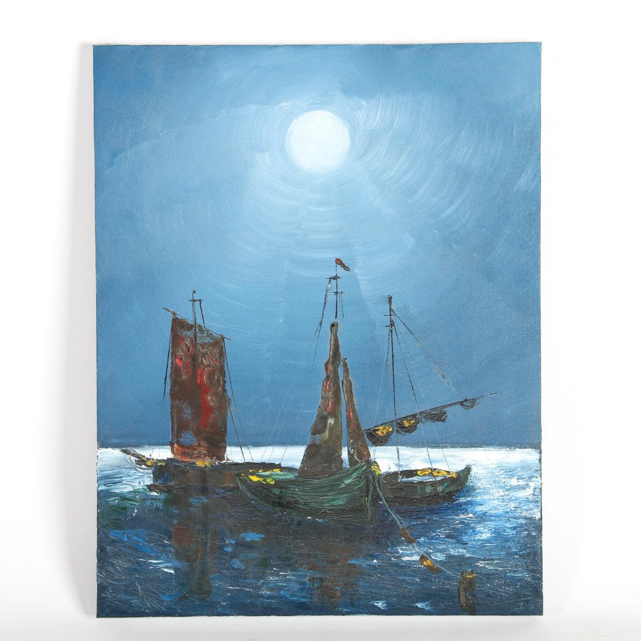 Mary Acrylic Painting on Canvas