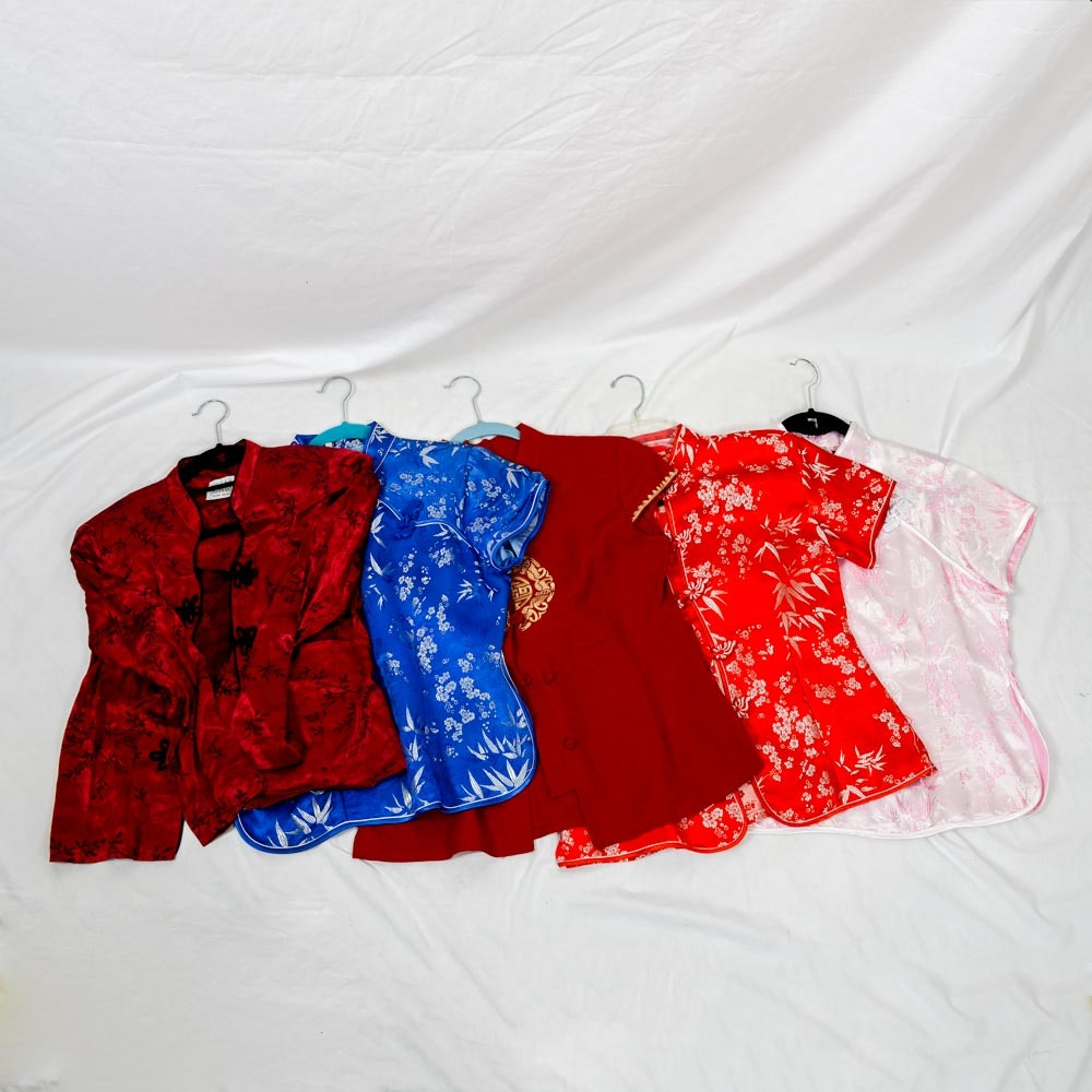 Asian Silk Embroidered Shirts