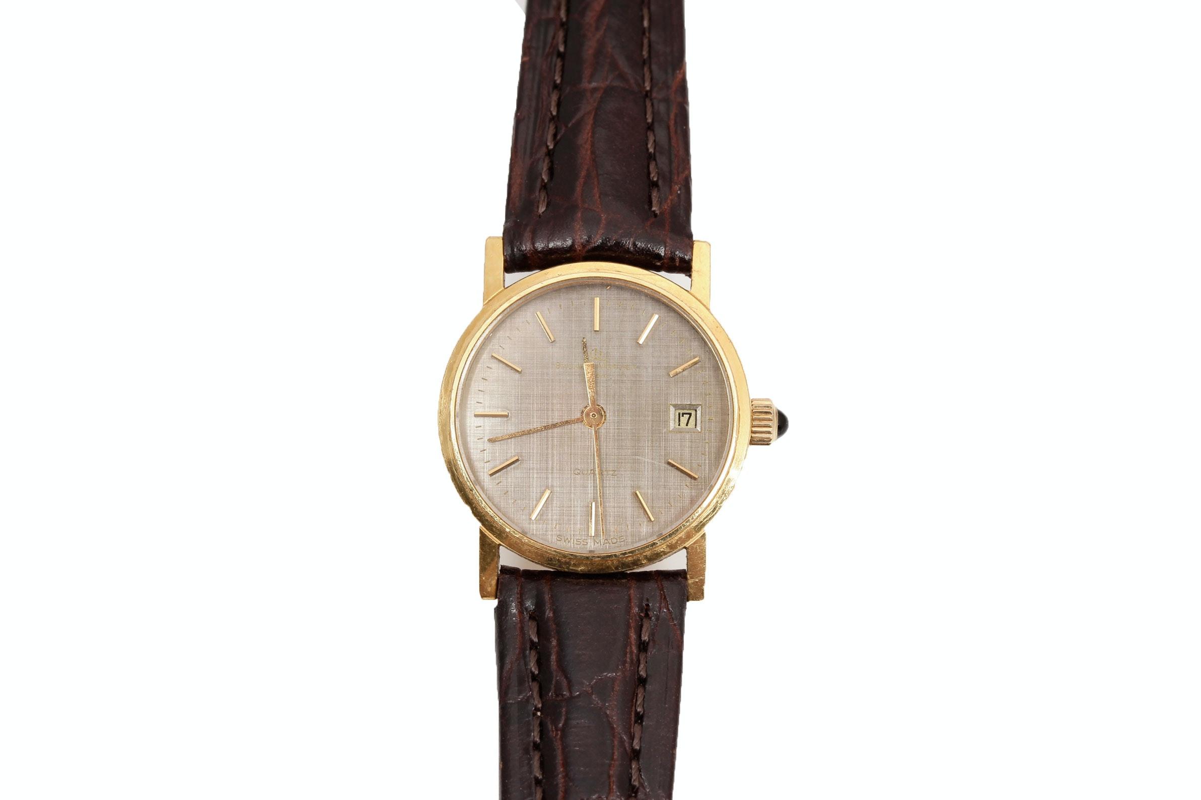 18K Yellow Gold Quartz Wristwatch