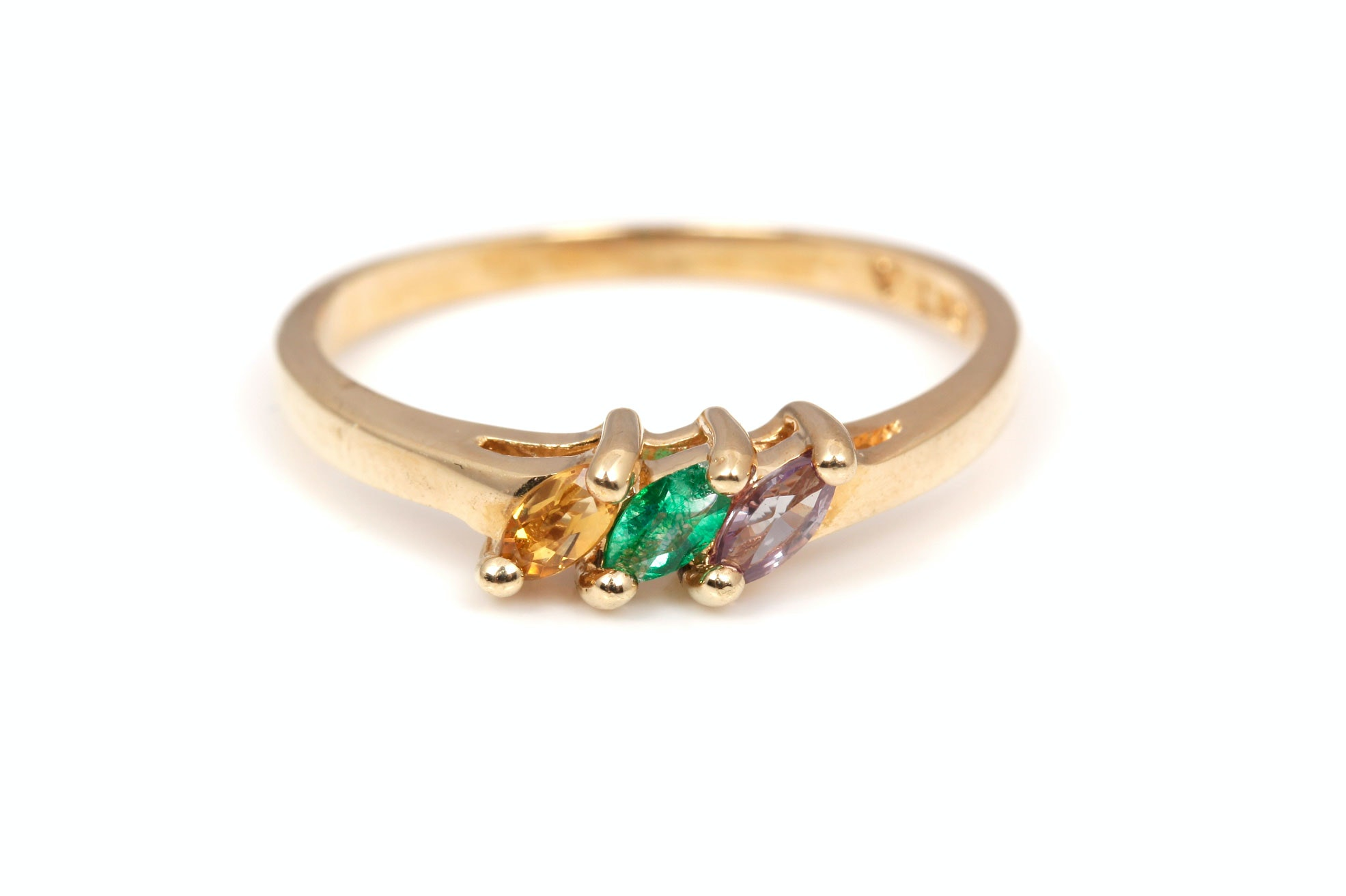 10K Yellow Gold Gemstone Ring