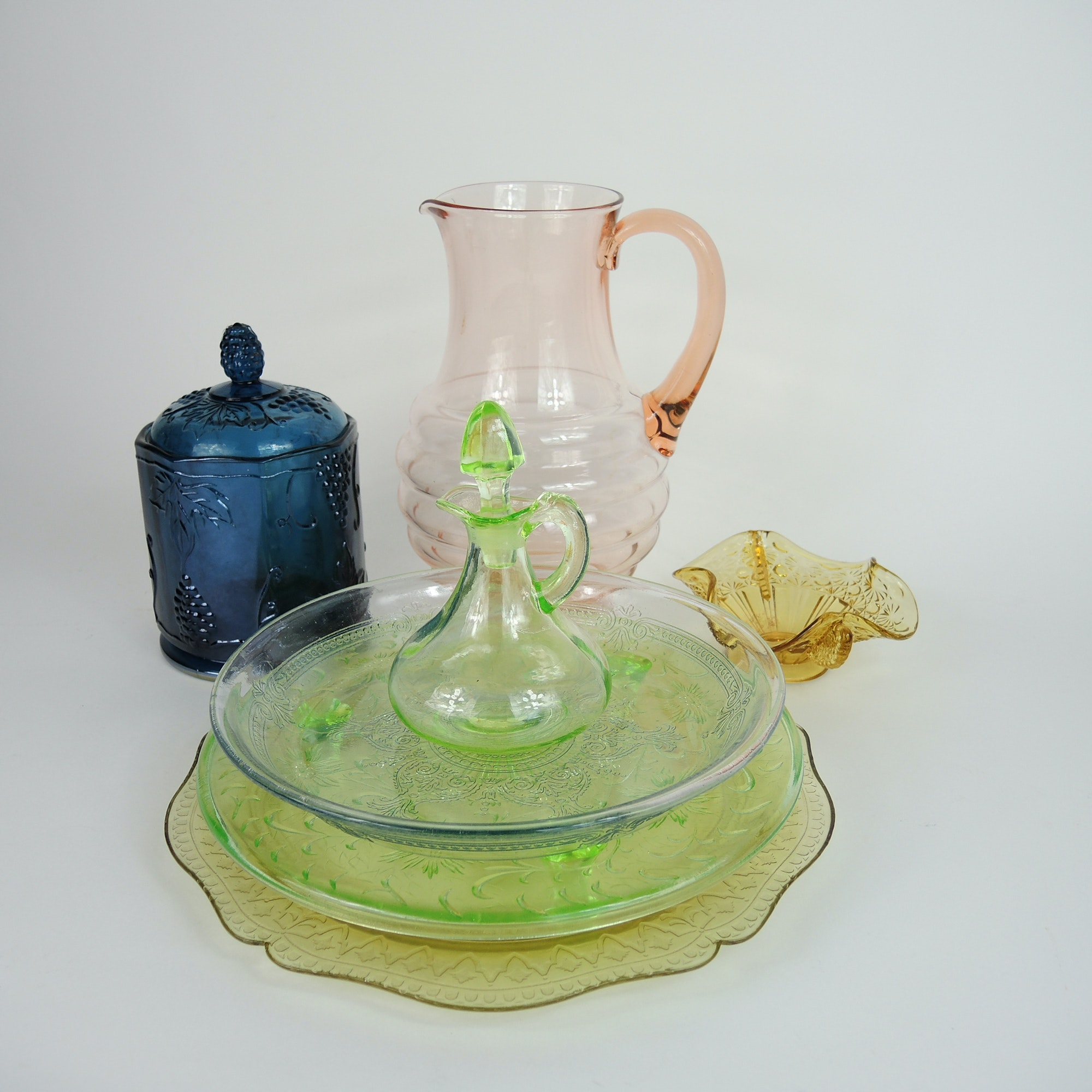 Vintage and Depression Colored Glass