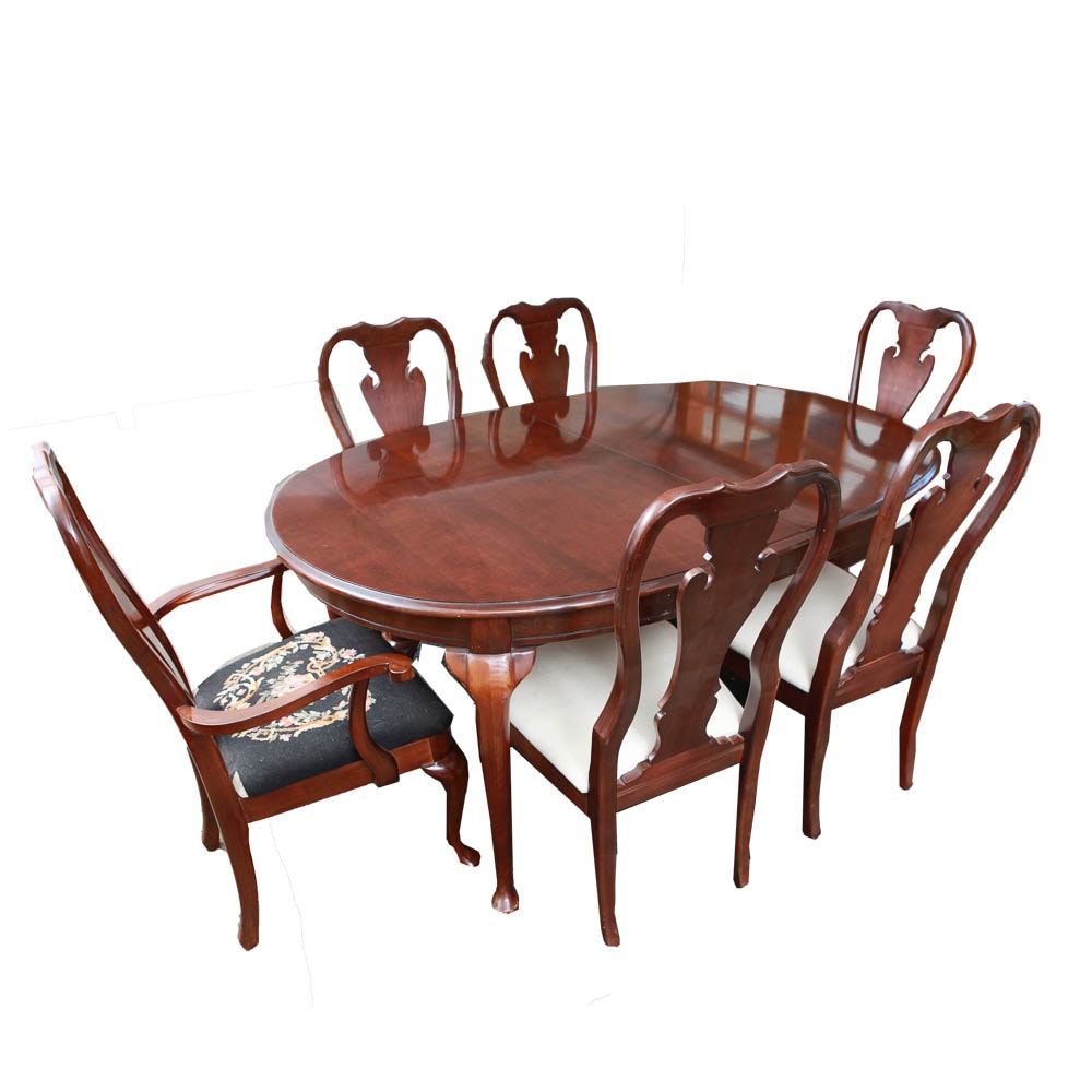 Winston Court Cherry Dining Table and Chairs by Thomasville EBTH