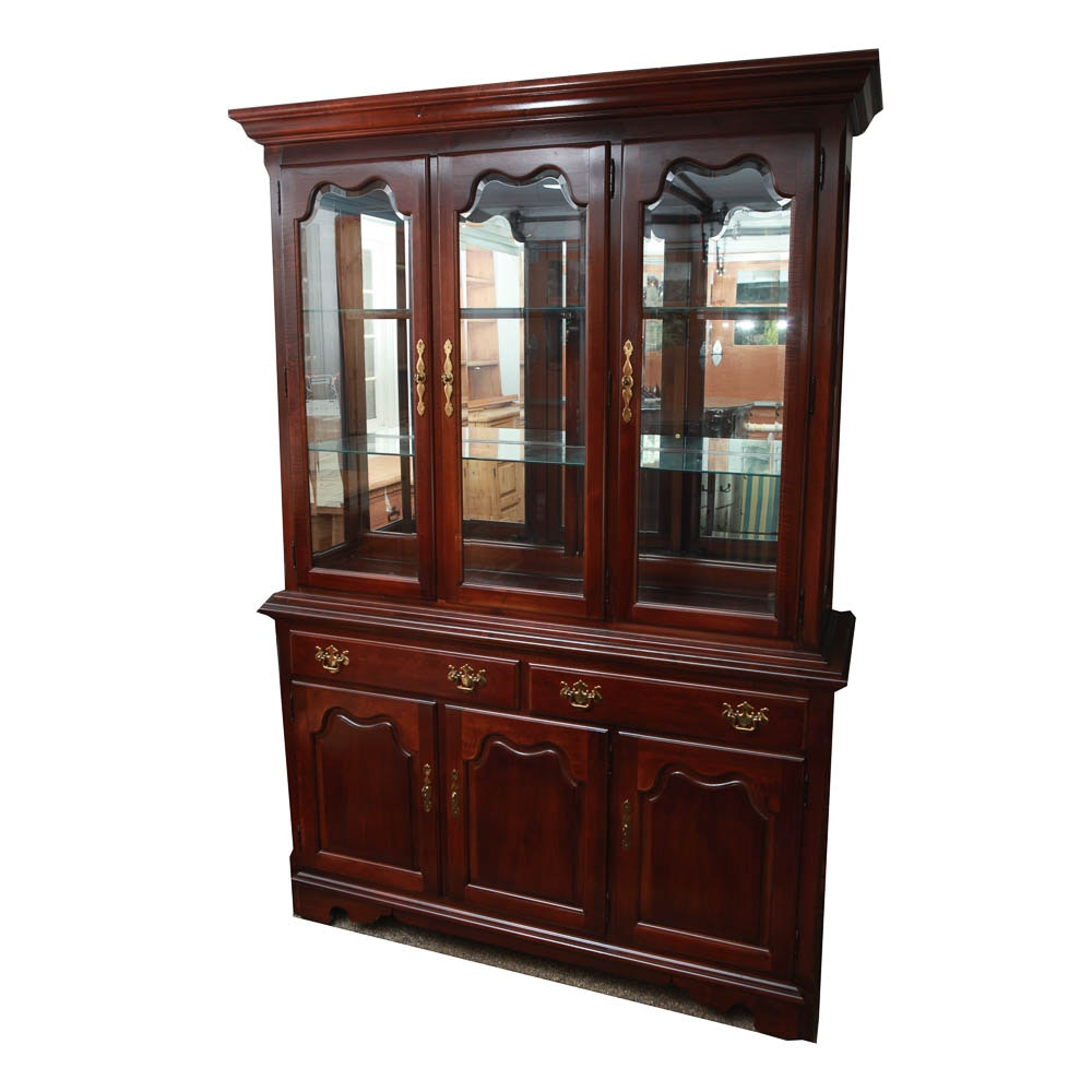 """Winston Court"" Cherry China Cabinet from Thomasville"