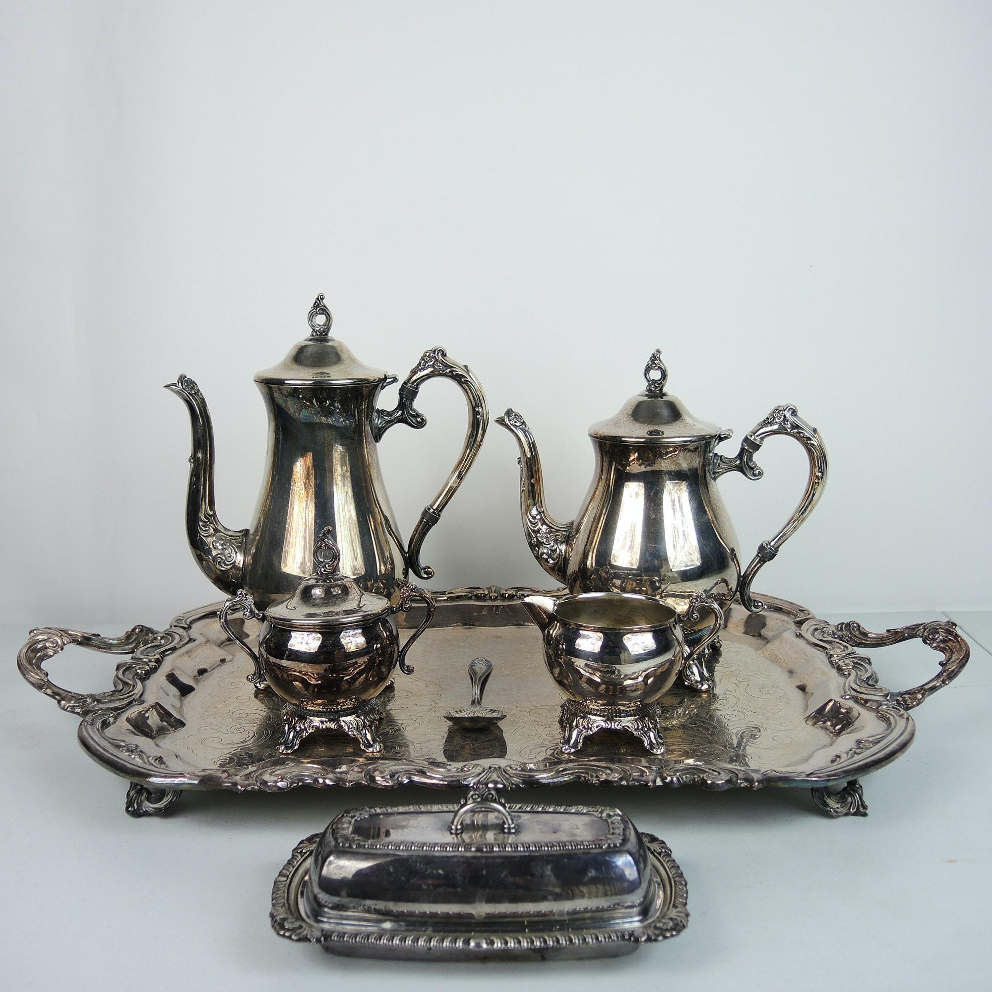 Pilgrim Silver Plate Tea Set and More