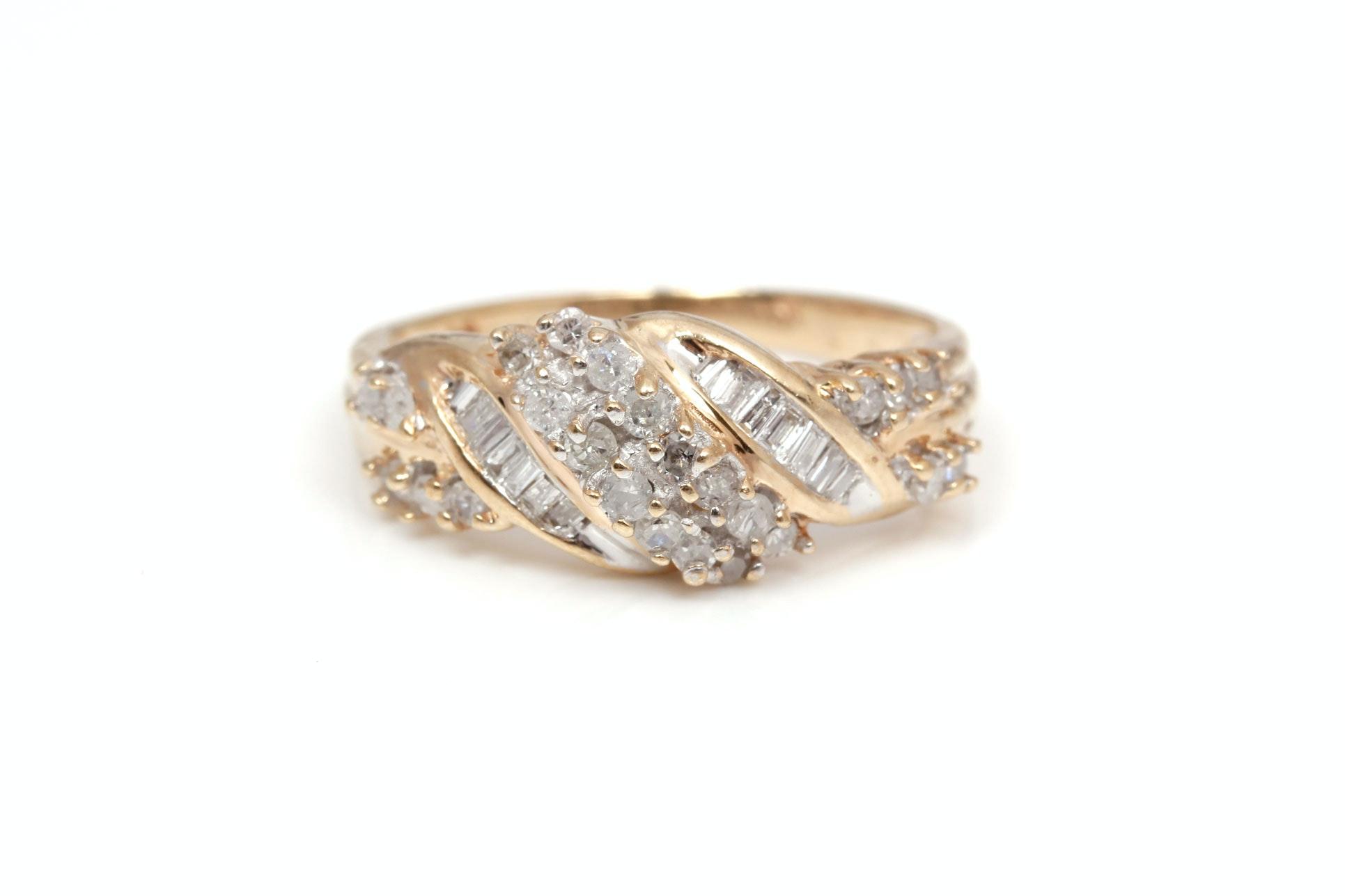 10K Yellow Gold 0.50 CTW Diamond Ring