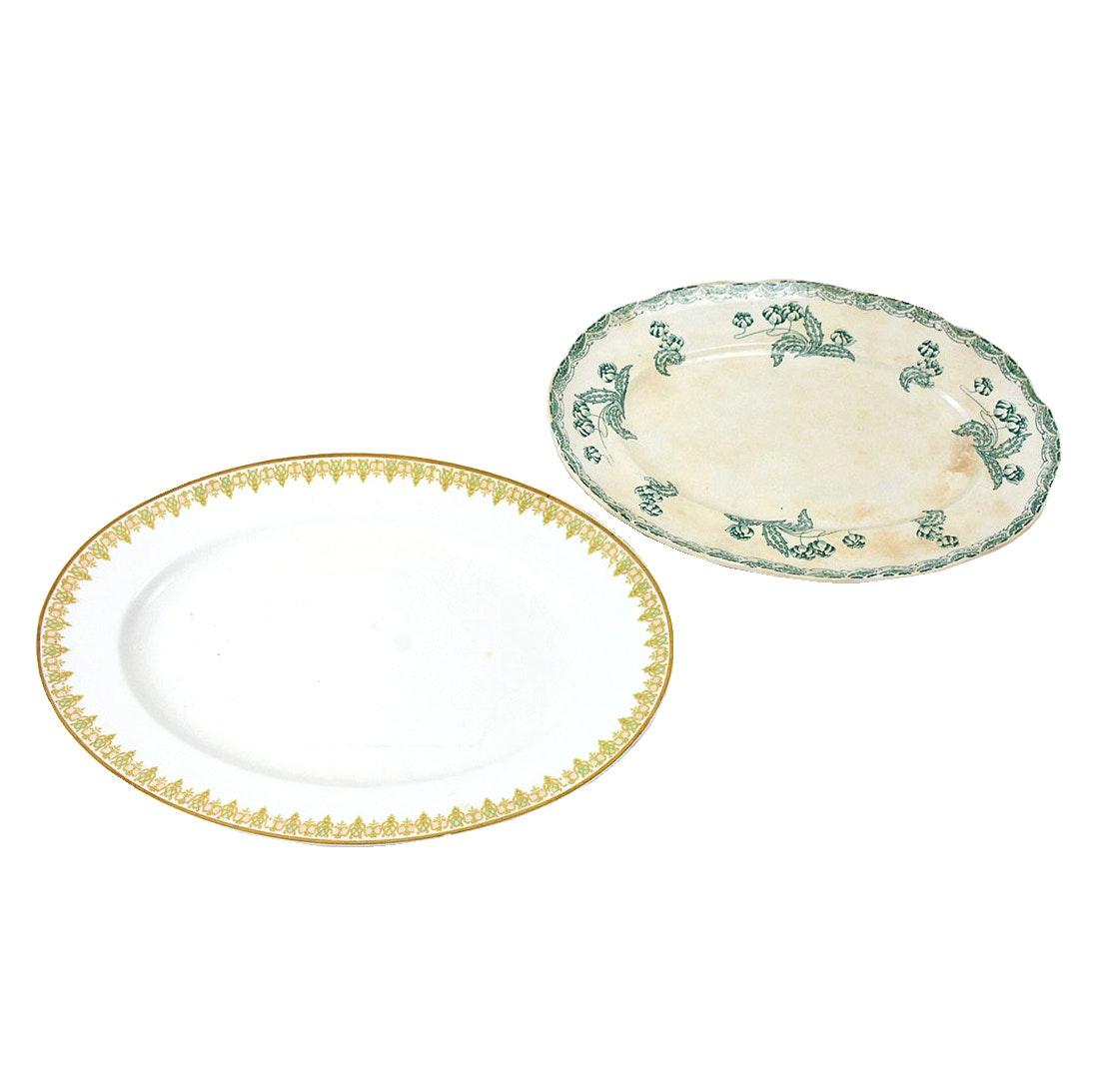 Vintage China Platters Including Limoges France