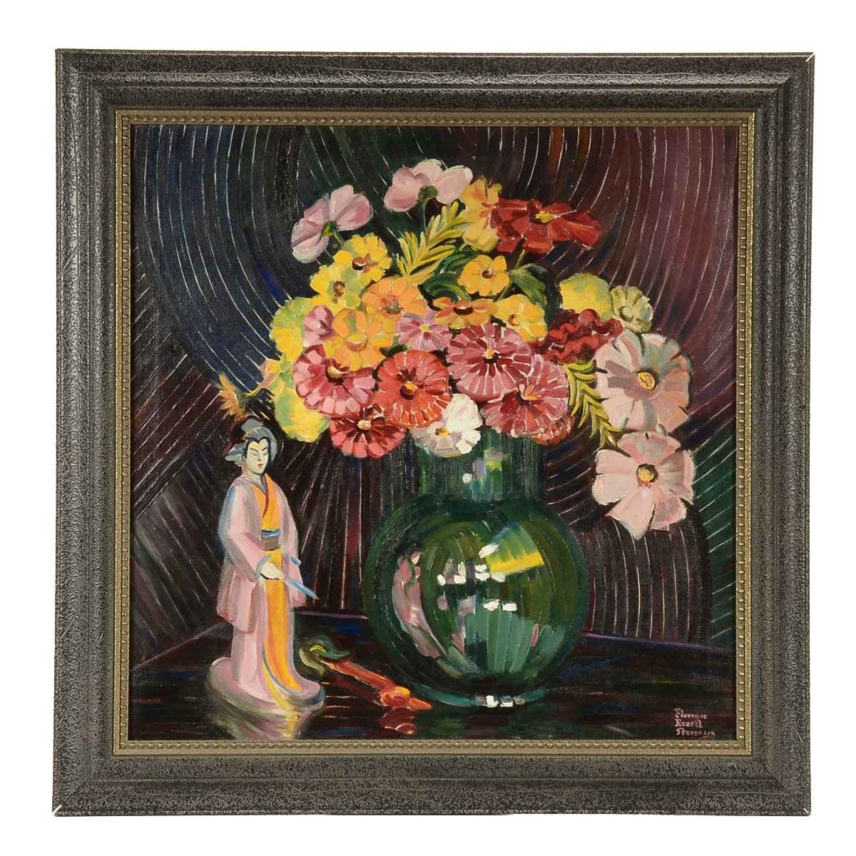 Florence Ezzell Stevenson Original Oil Painting of Still Life
