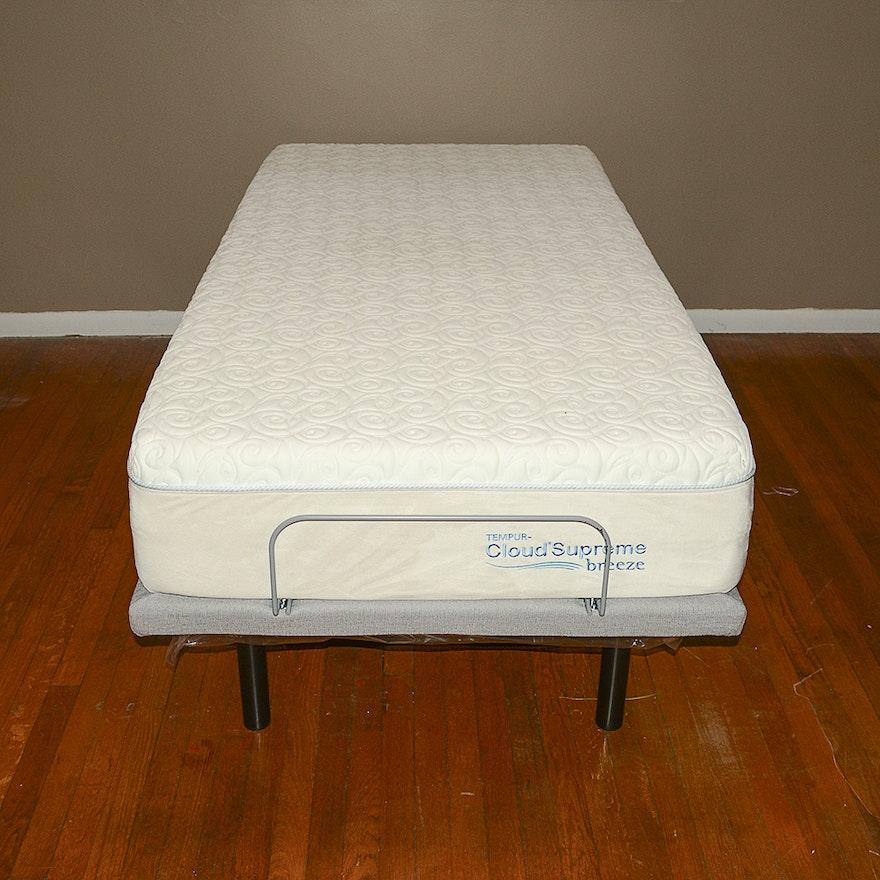 Tempur-Pedic Twin Adjustable Bed Frame with CloudSupreme ...