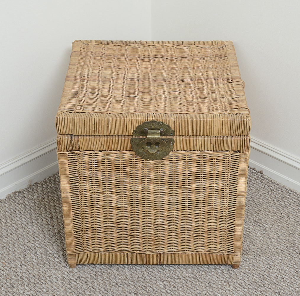 Square Shape Wicker Chest