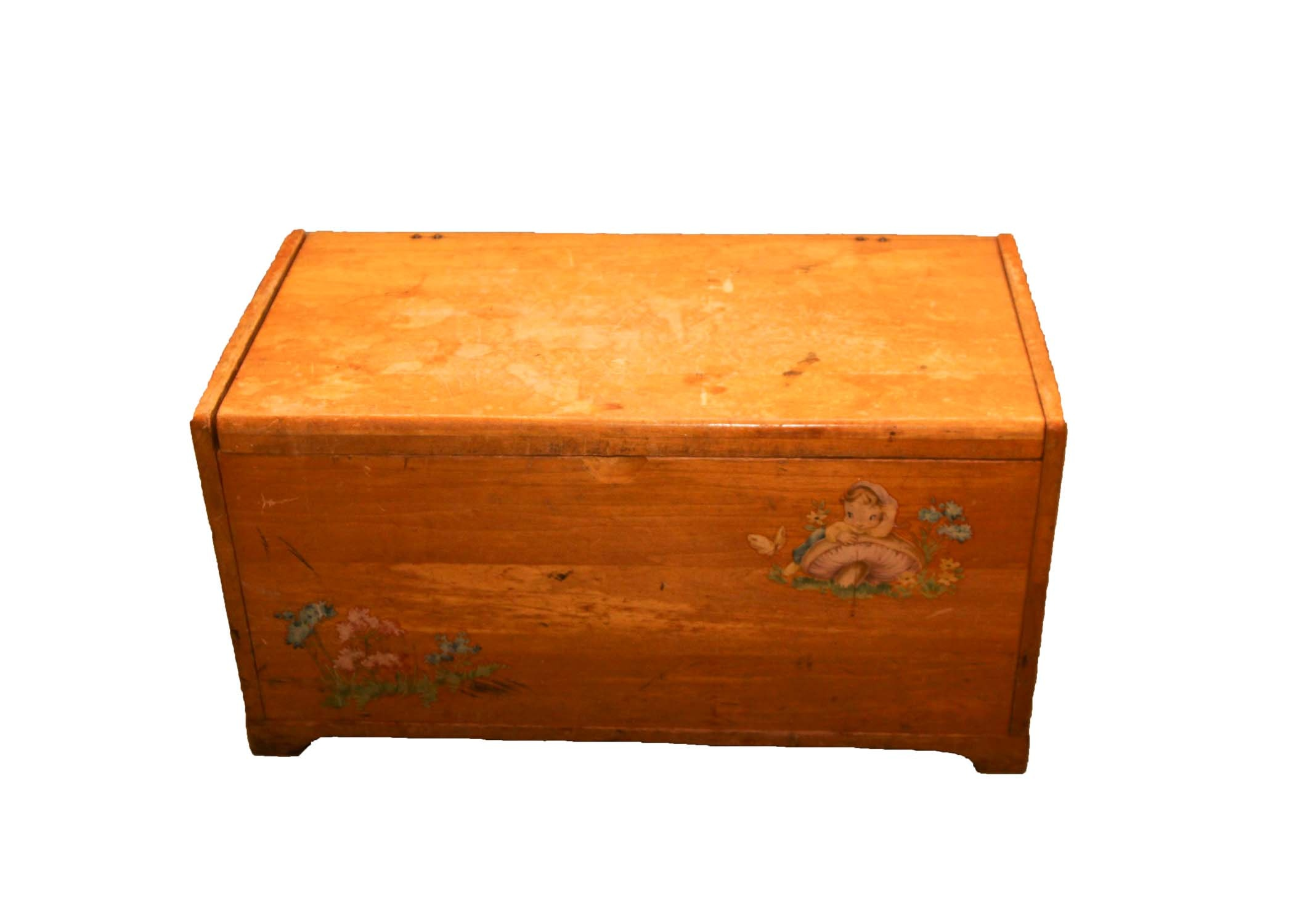 Vintage Wooden Toy Chest