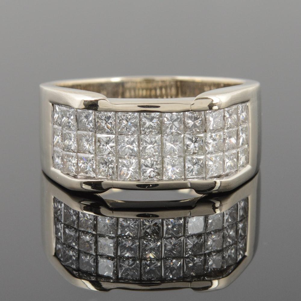 18K White Gold 2.50 CTW Diamond Ring