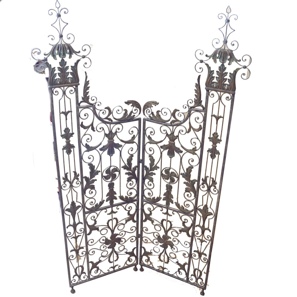 Elaborate Wrought Iron-Style Gate