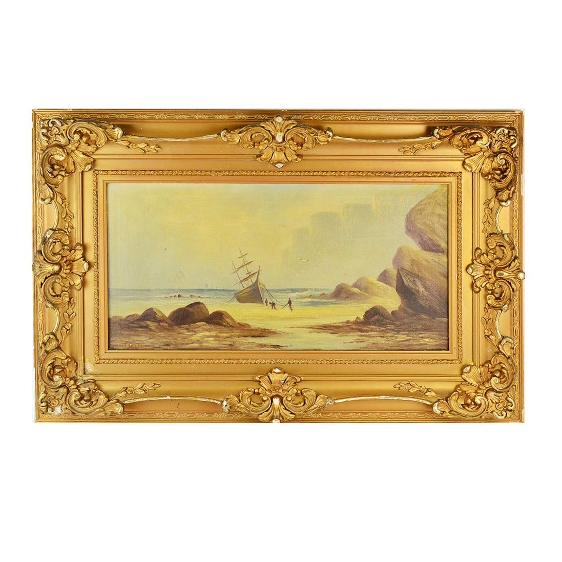 F. Carson Oil Painting of Seascape