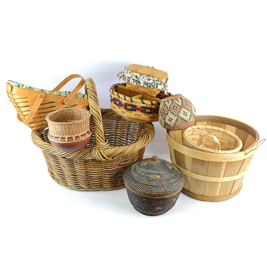 Collection of Assorted Baskets