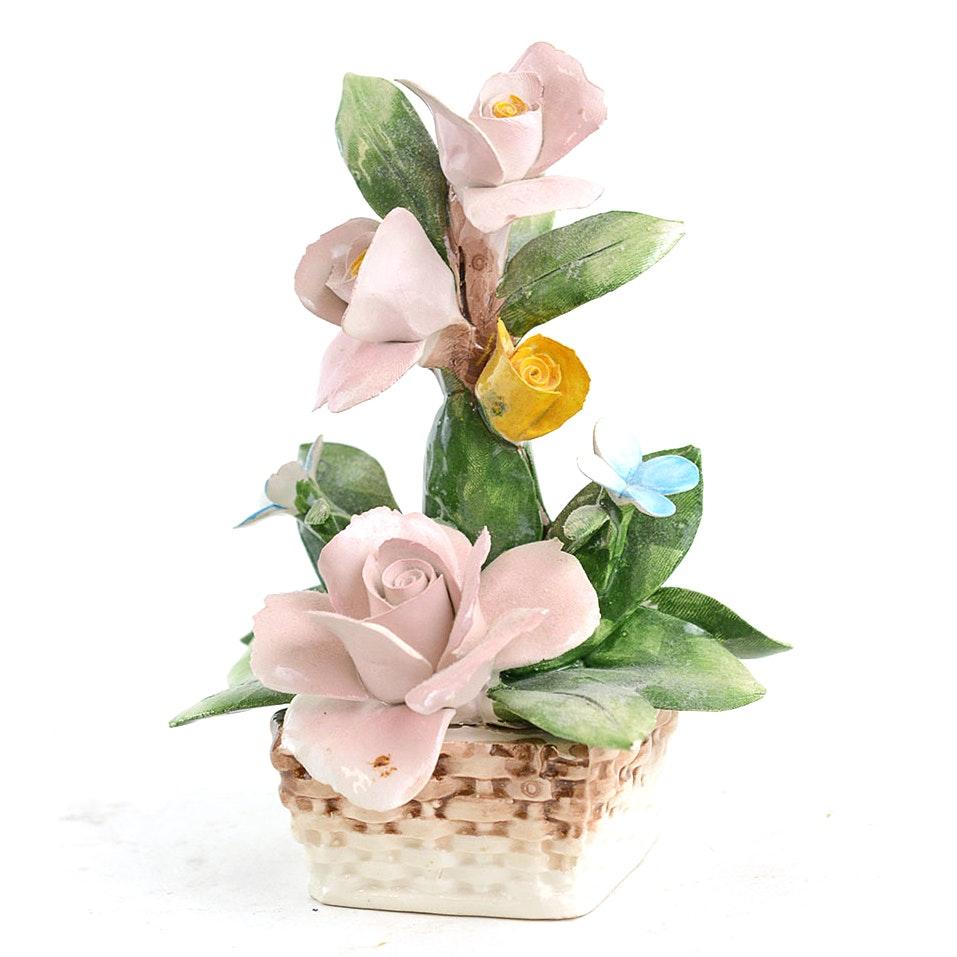 Capodimonte Porcelain Floral Arrangement