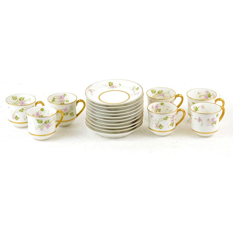 Haviland Limoges Miniature Teacups and Saucers