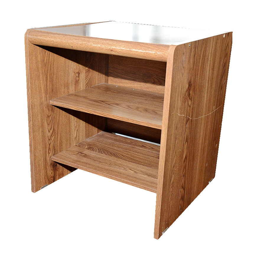 Oak Veneer Side Table