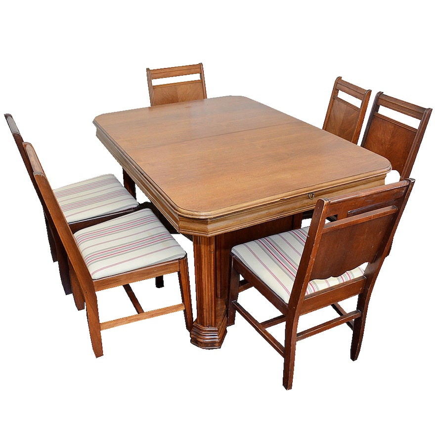 art deco dining table and chairs ebth