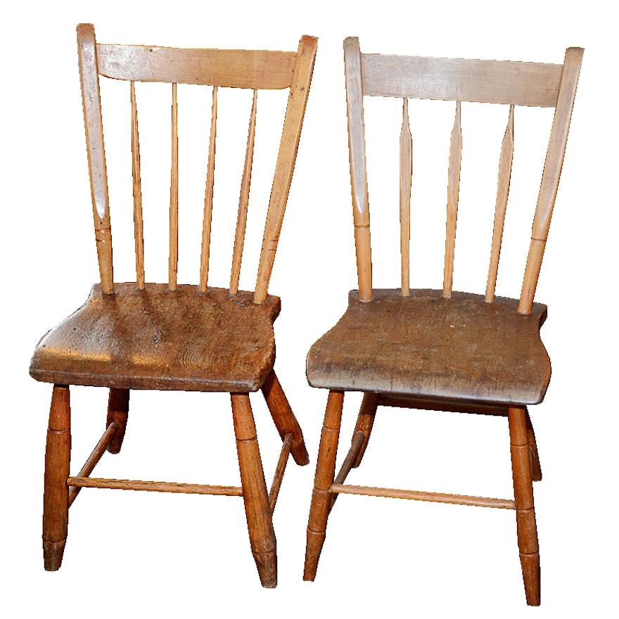 Pair Of Vintage Arrow Back Chairs