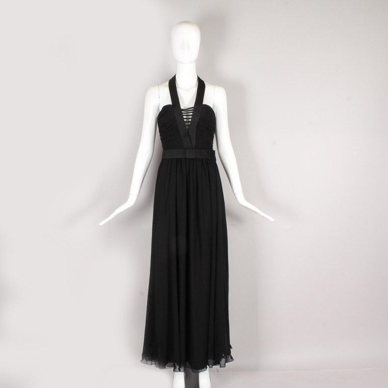 1970s  Frank Usher Halter Evening Gown