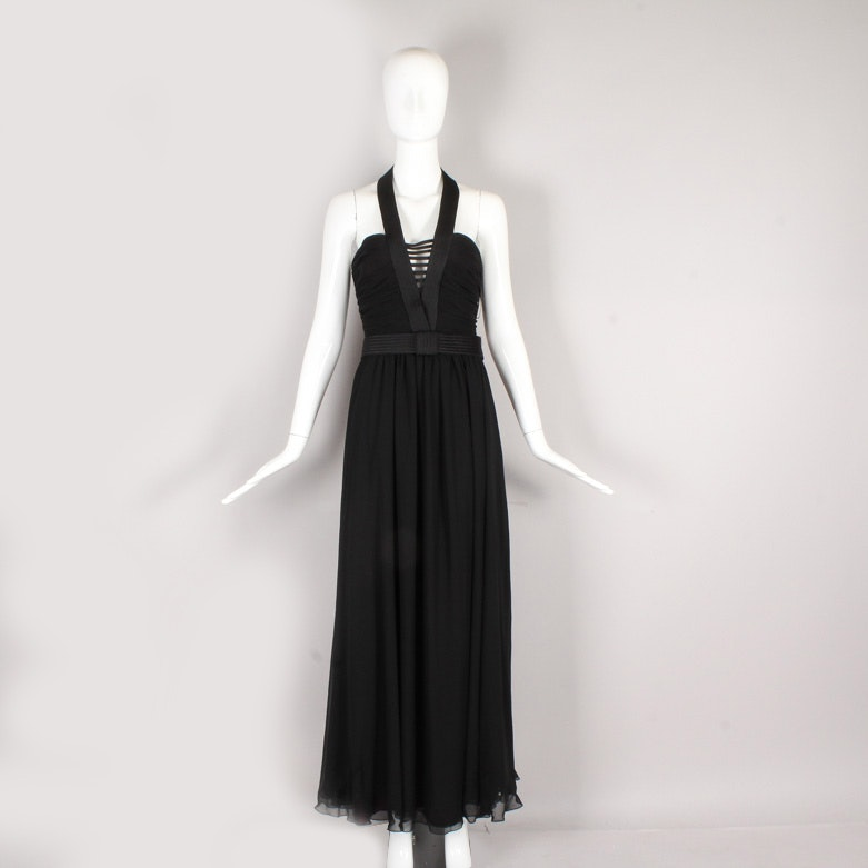 1970s  Frank Usher Halter Evening Gown