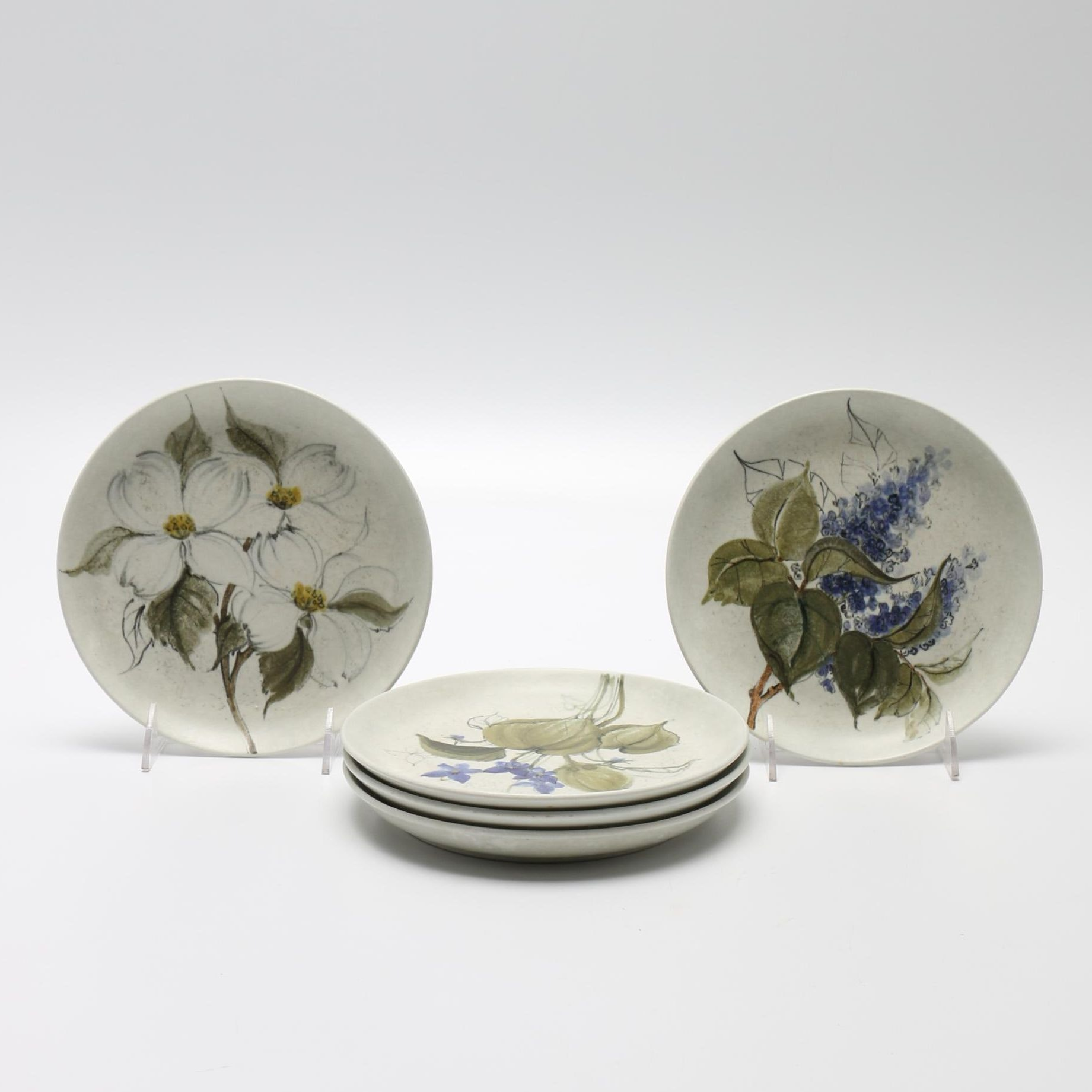 Arabia of Finland Ceramic Floral Plates
