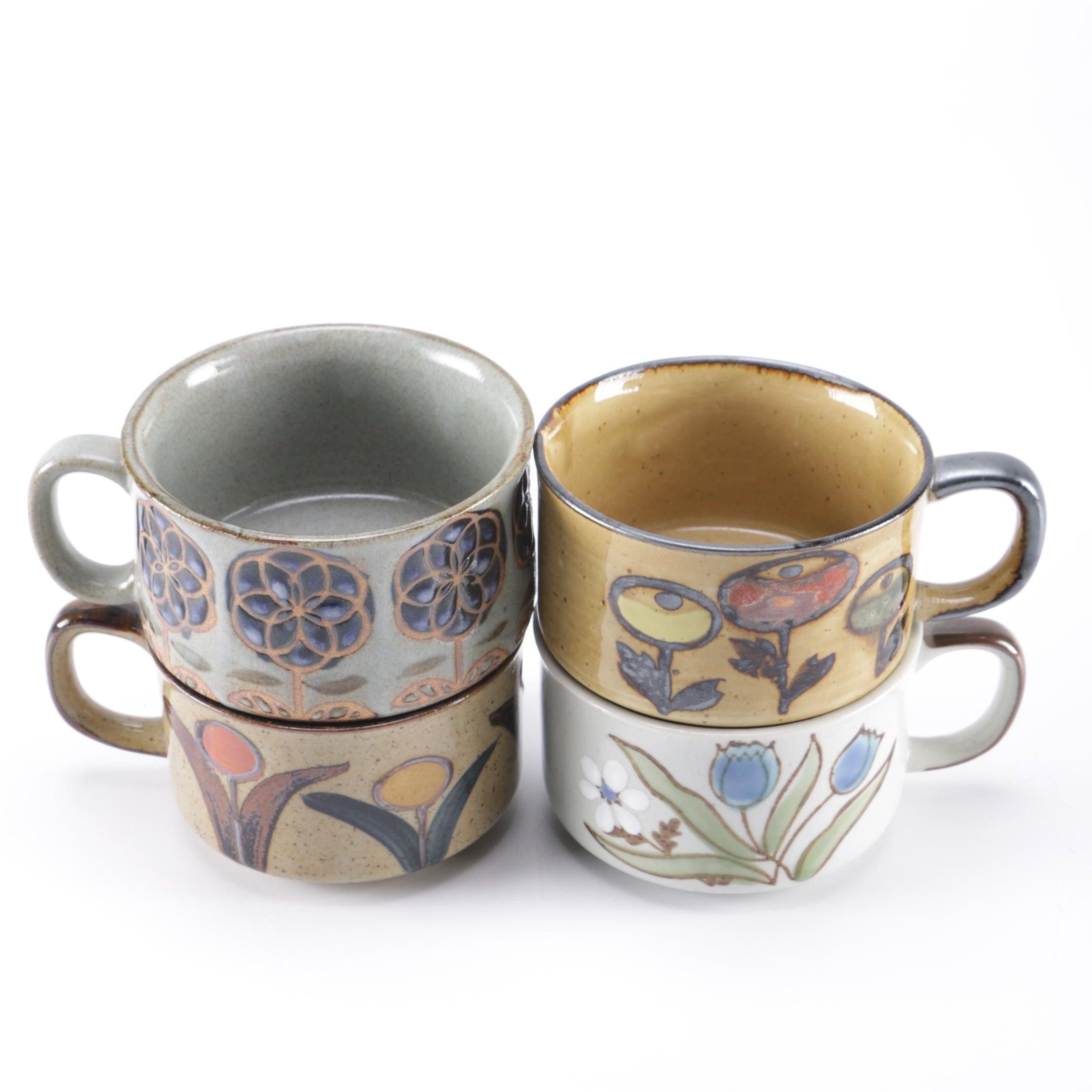 Studio Pottery Soup Mugs