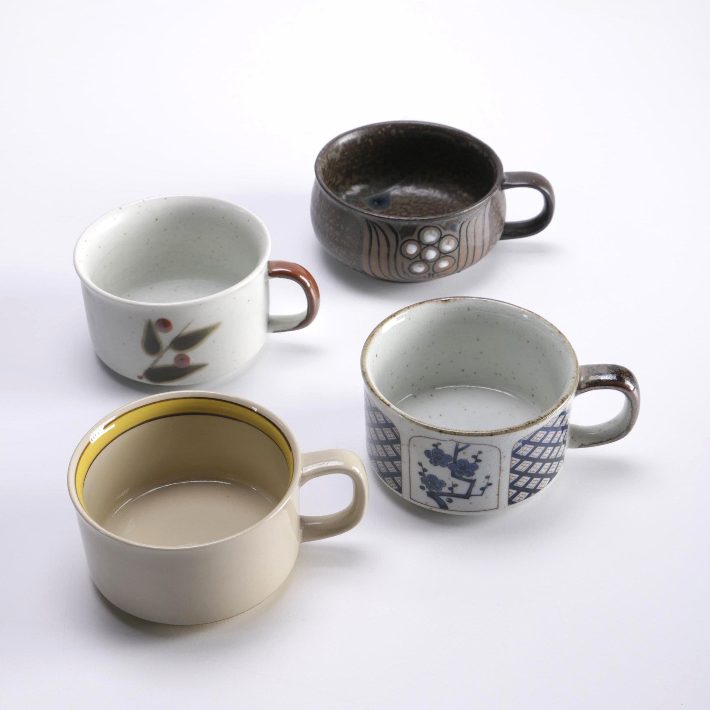 Studio Pottery Chowder Mugs