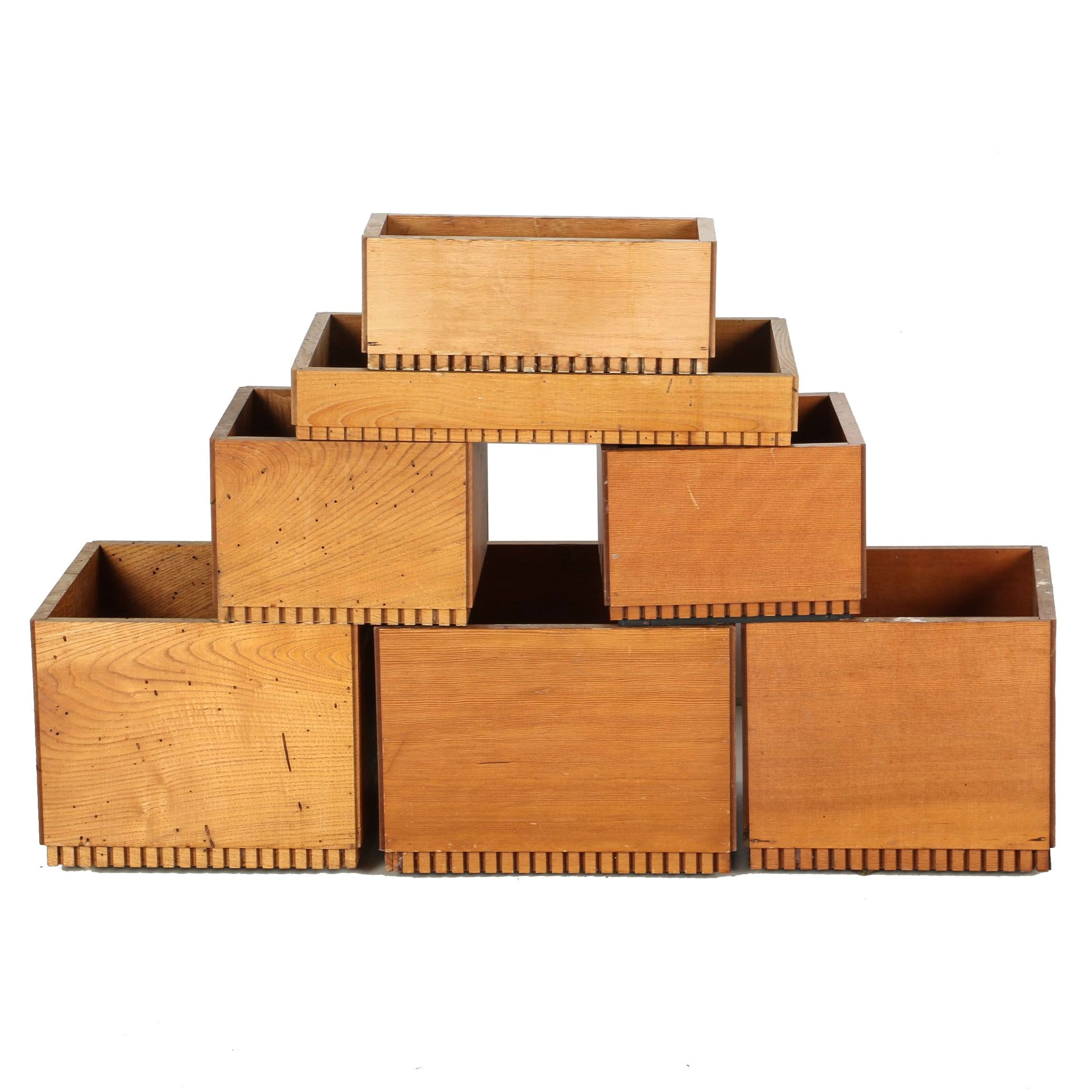 Wooden Planter Boxes Designed by Robert Metcalf