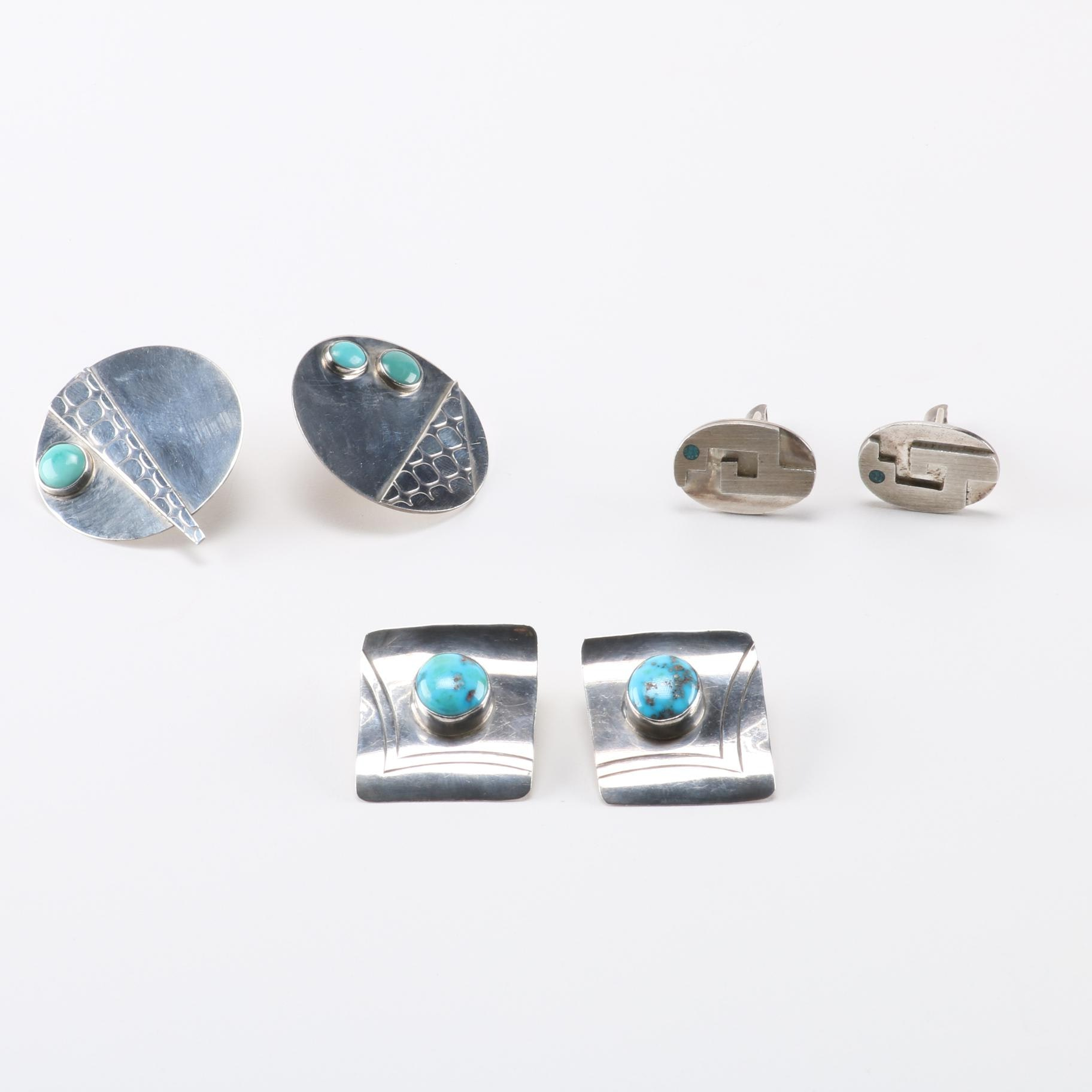Sterling Silver Turquoise Jewelry With Leonard and Marian Nez