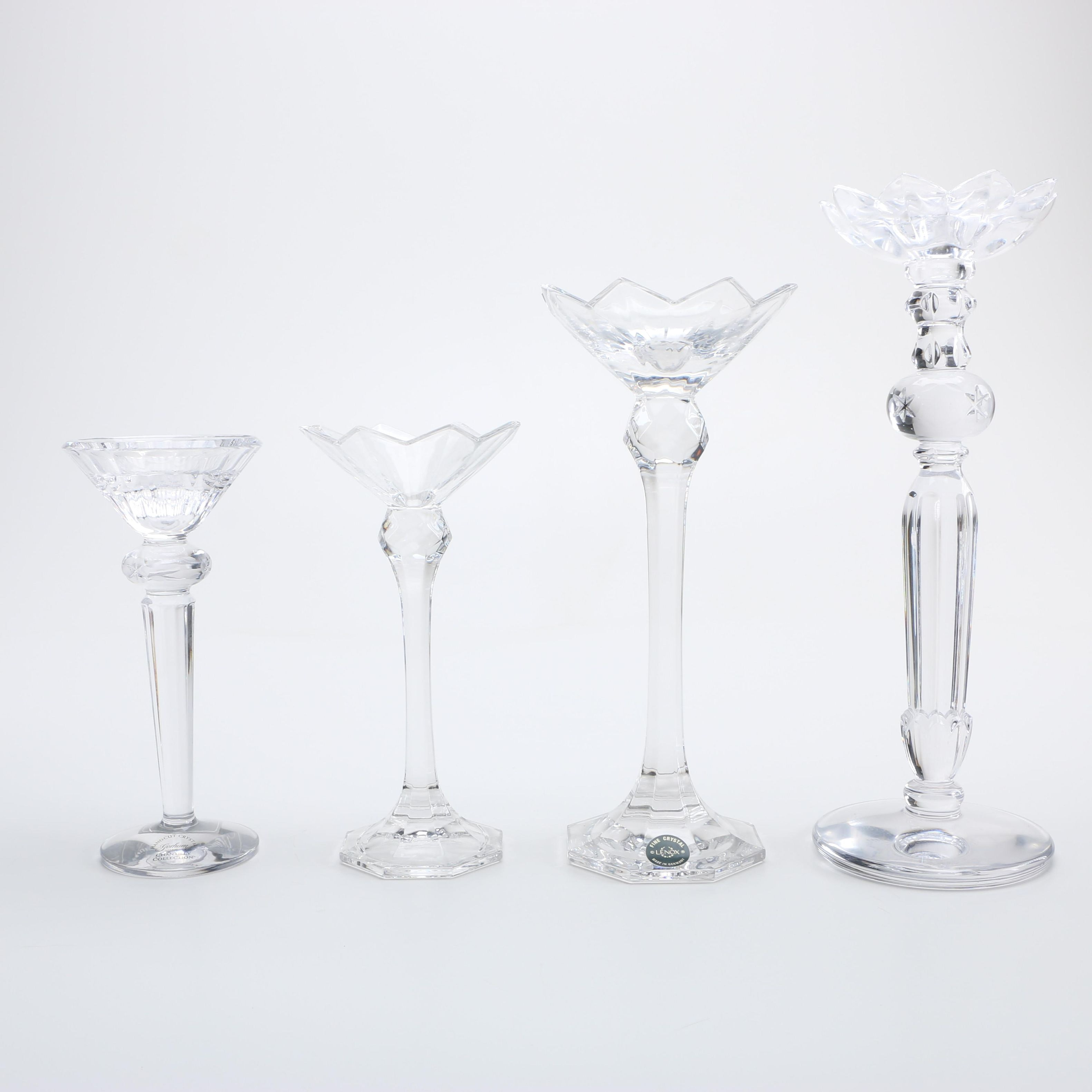 Crystal Candle Holders Including Gorham and Lenox