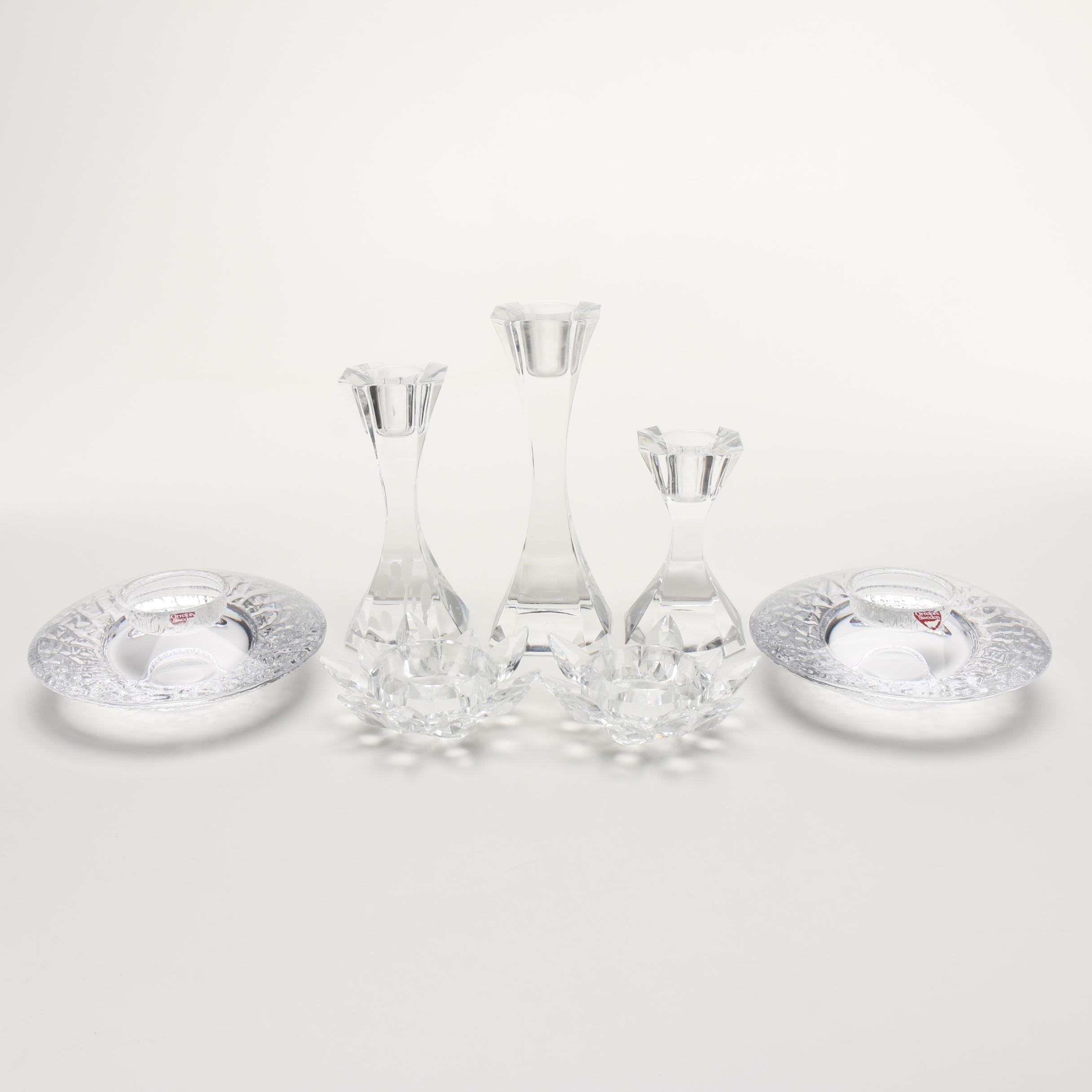 Crystal Candle Holders Including Orrefors and Villeroy & Boch