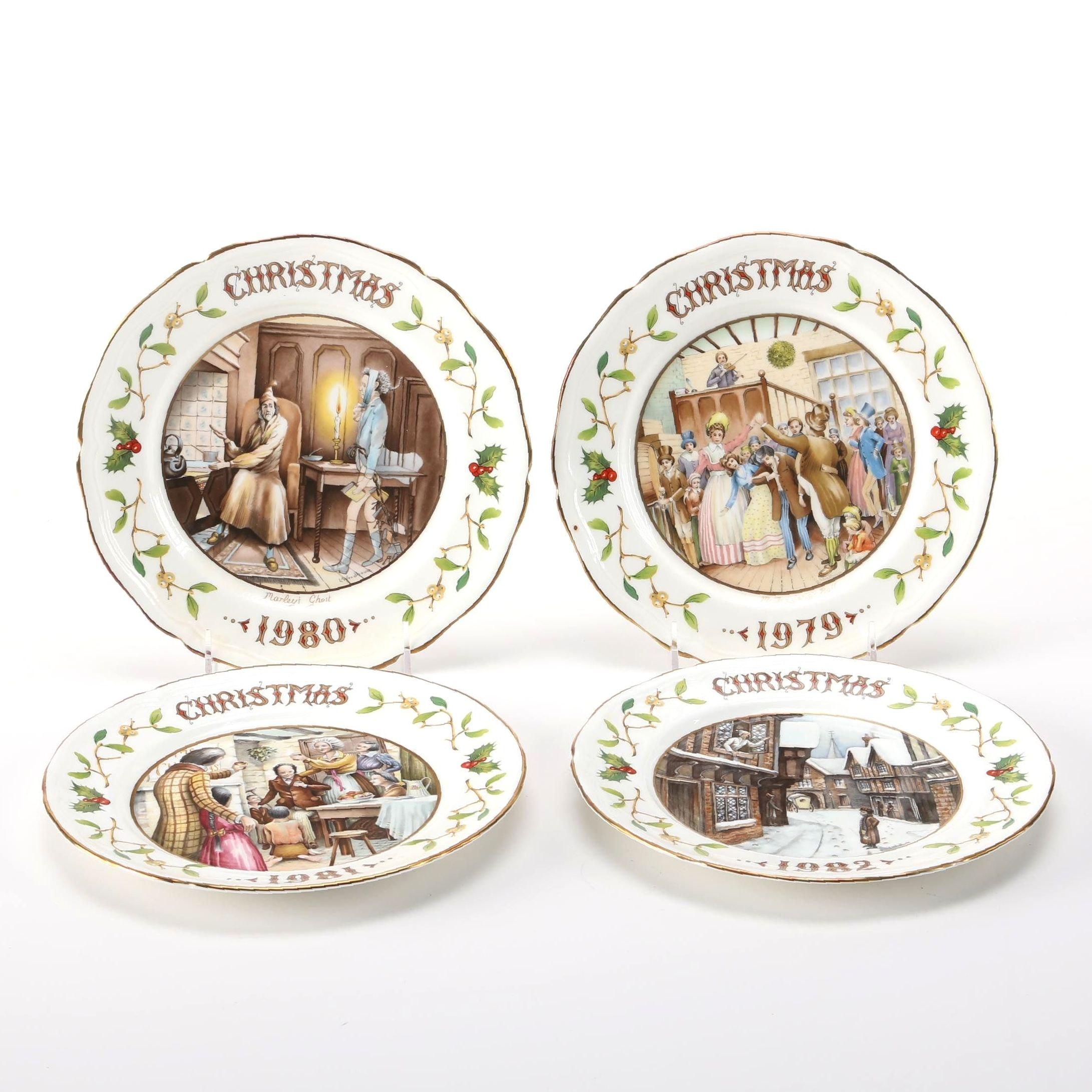 "1979-1982 Ansley ""A Christmas Carol"" Bone China Collector Plates"