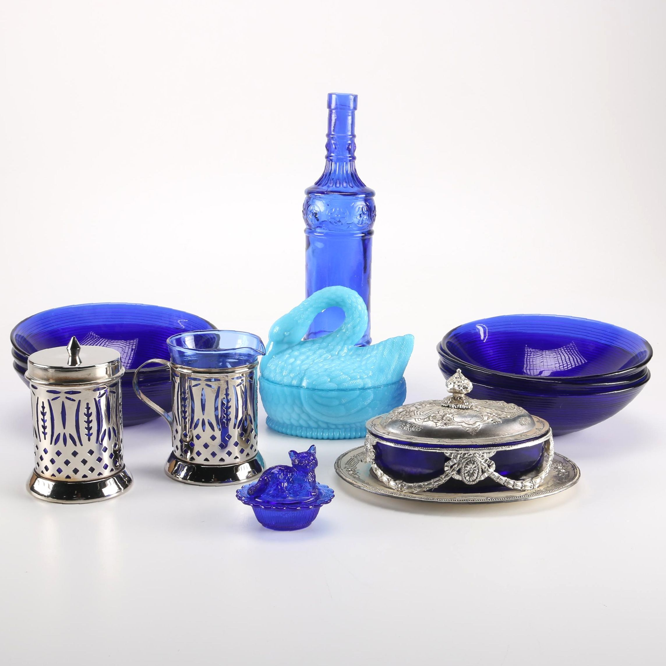 Colored Glass Decor and Tableware