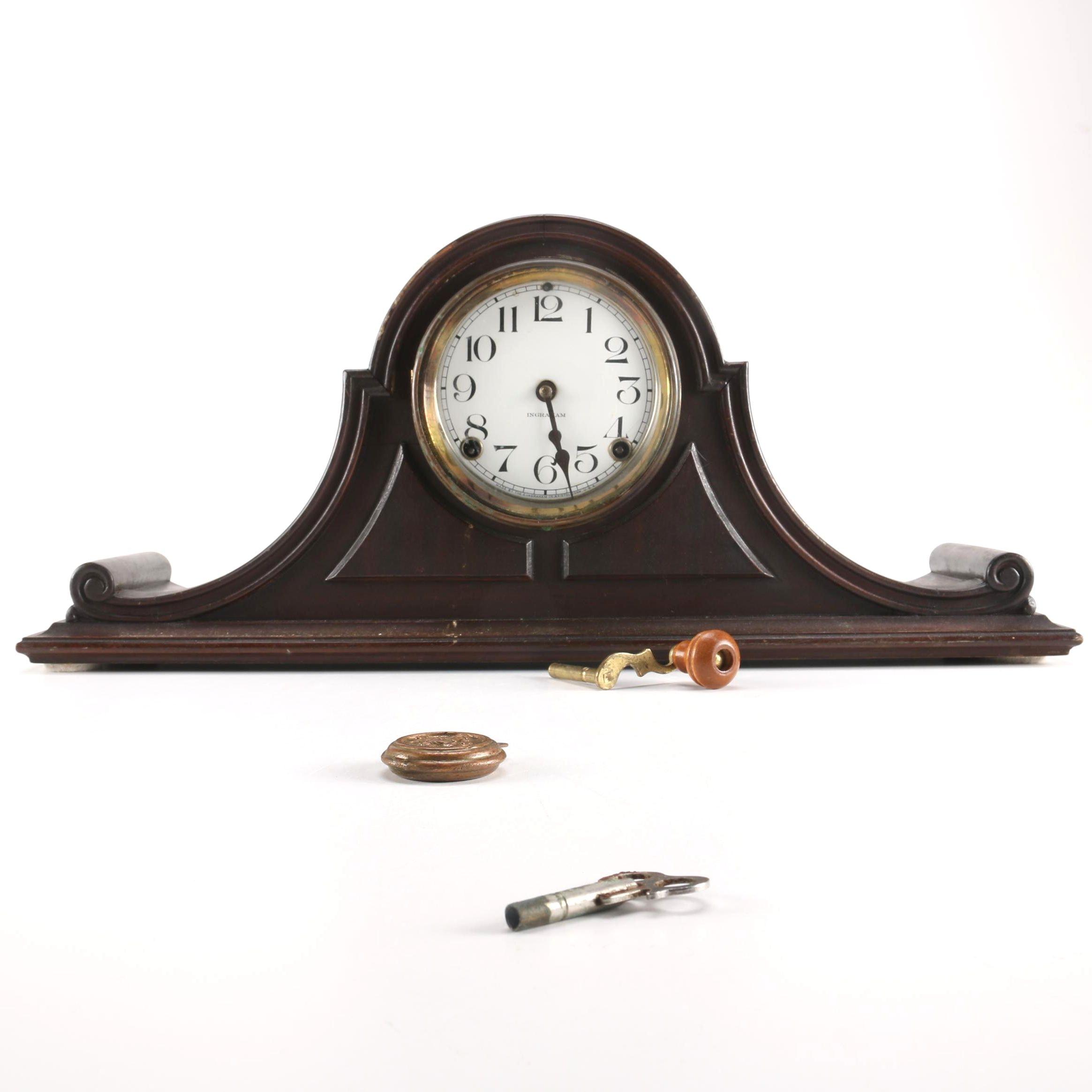 E. Ingraham Co. Mantel Tambour Clock
