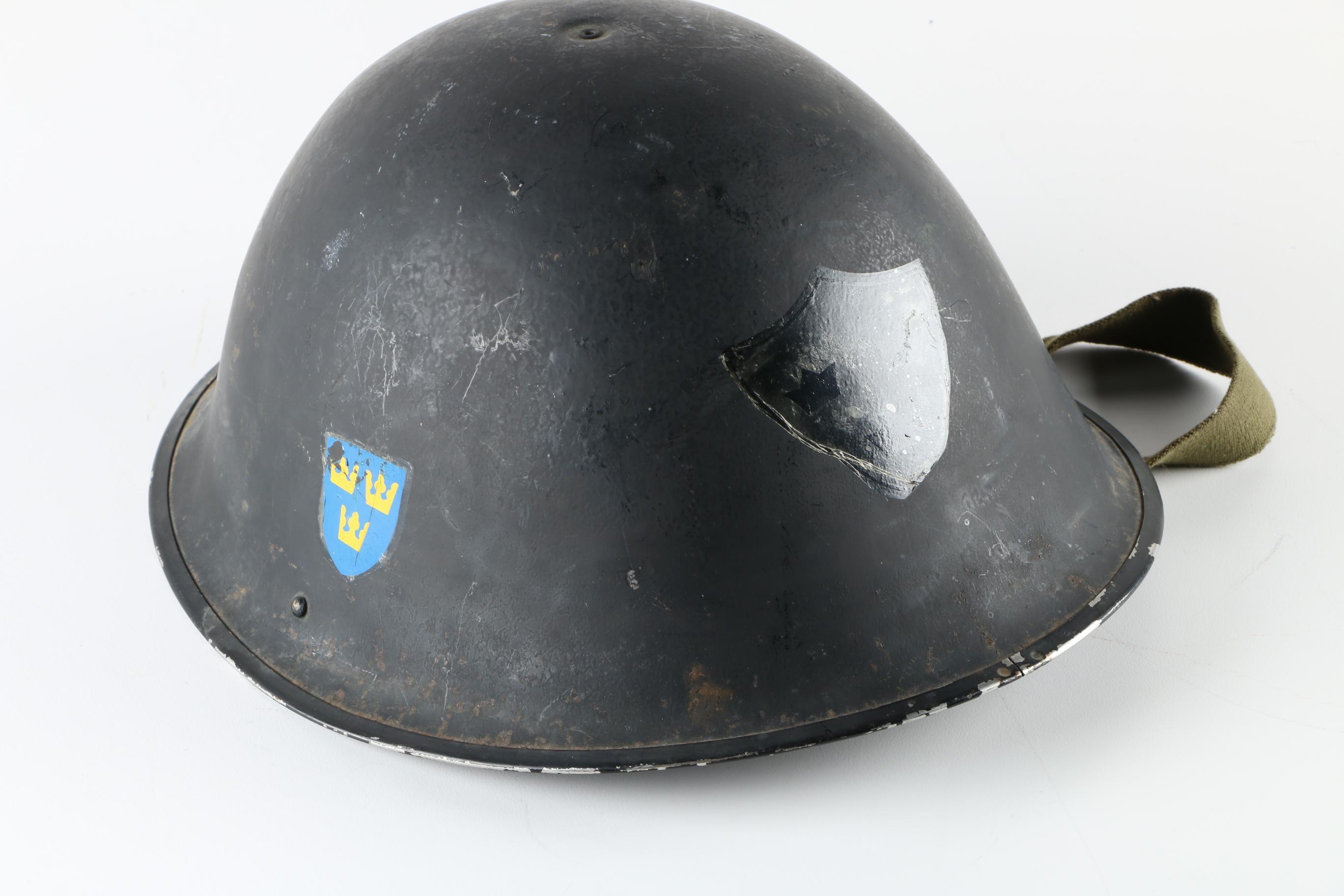 Korean War Era Swedish Helmet