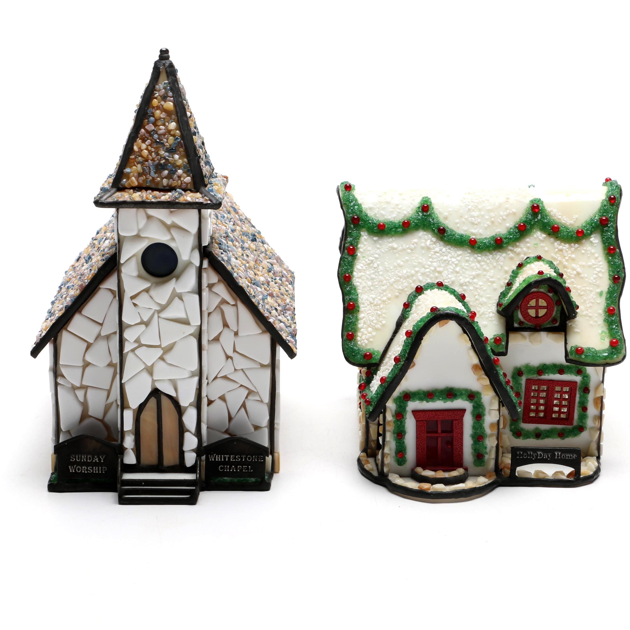 Decorative Holiday Village Miniatures