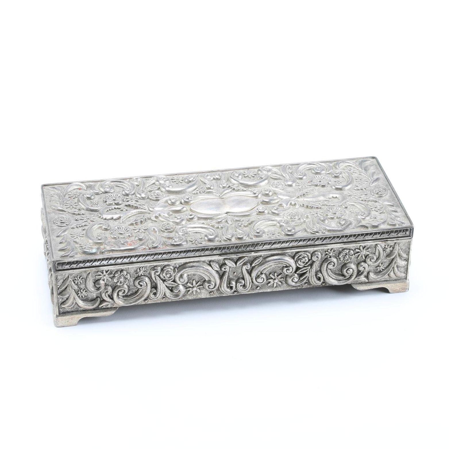 Godinger Silver Plate Jewelry Box