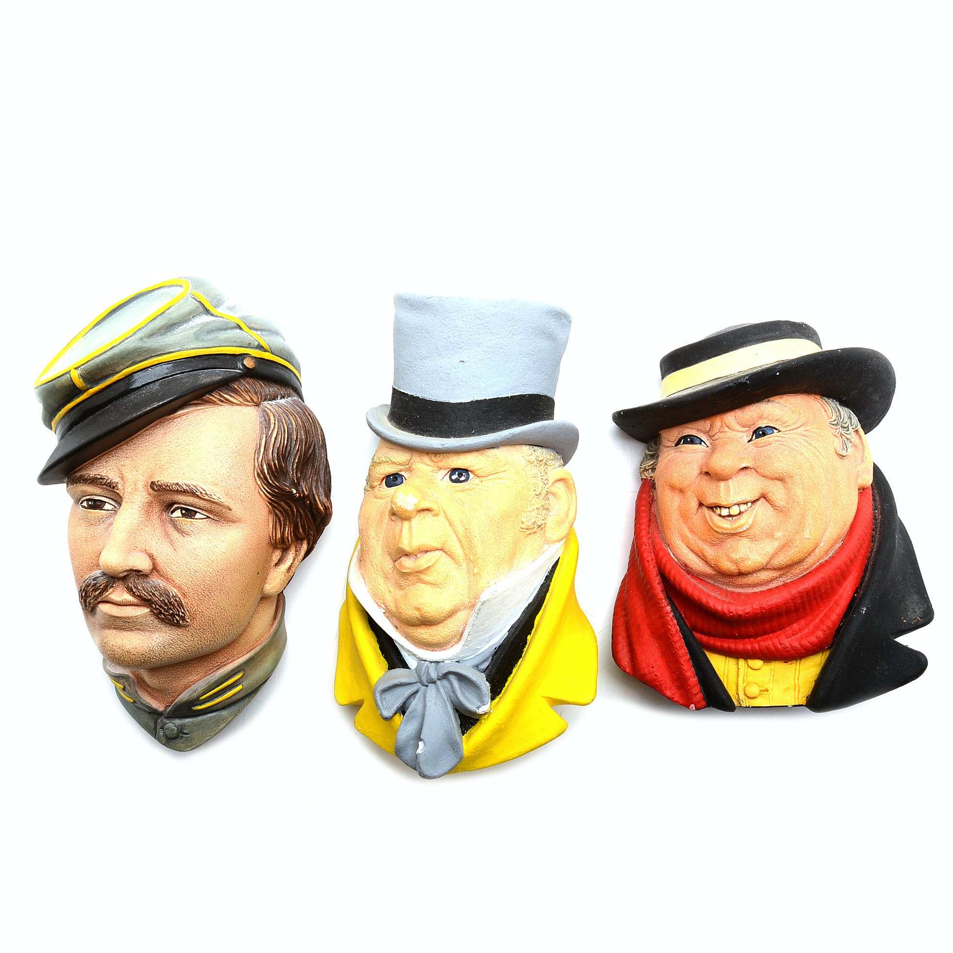 Three 1970s-1980s Brosson Chalk Wall Plaques