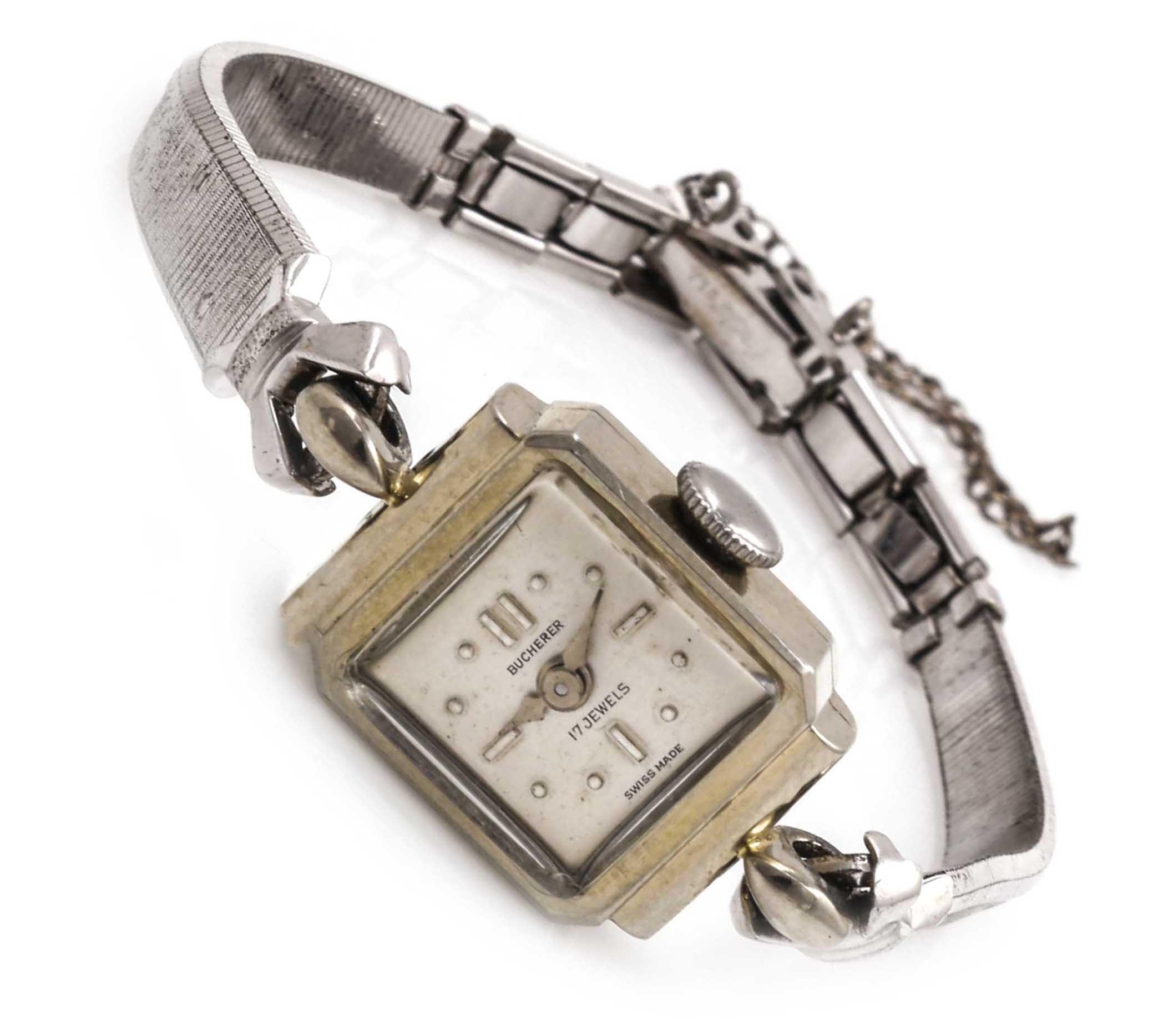 18K White Gold Bucherer Wristwatch