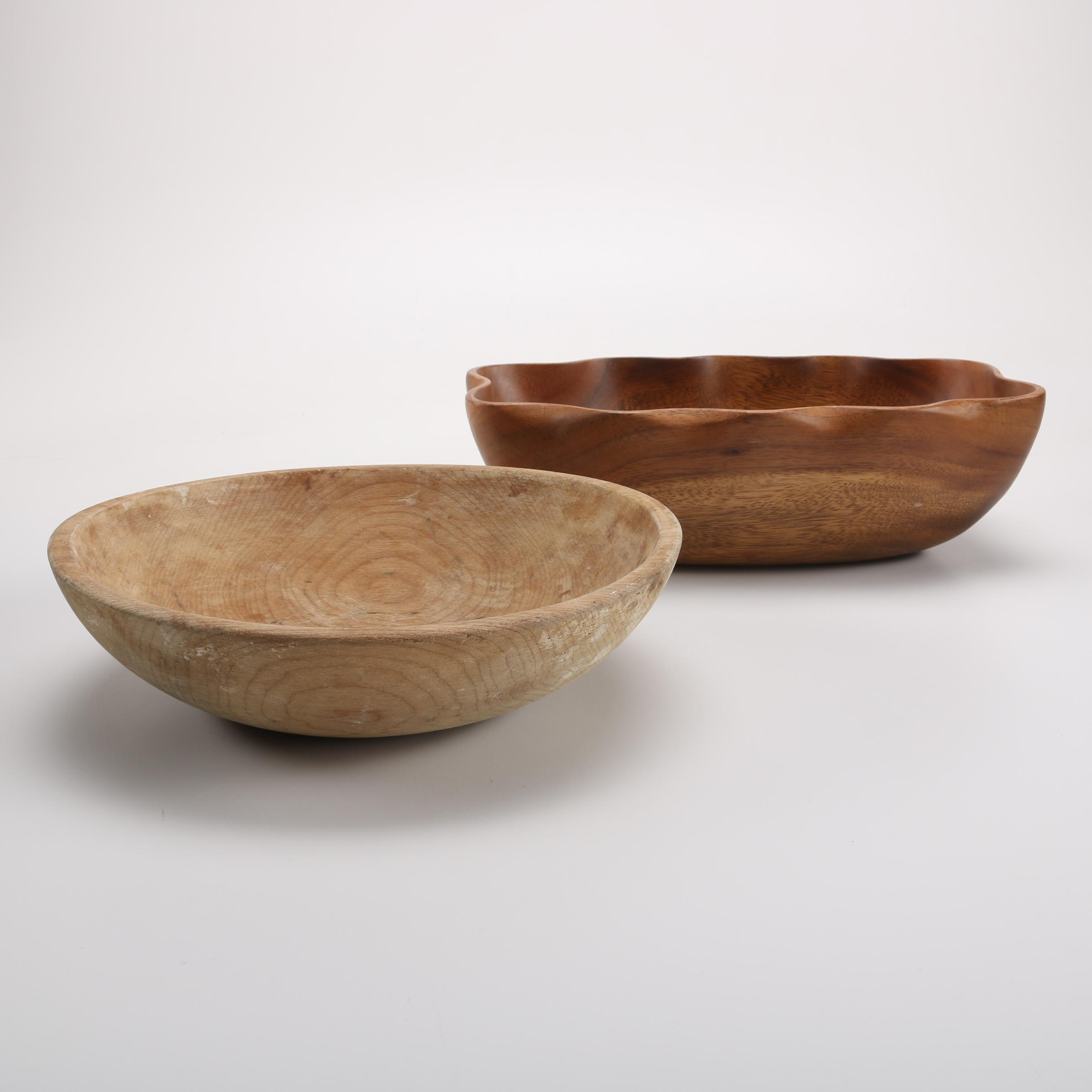 Marked Wooden Bowls