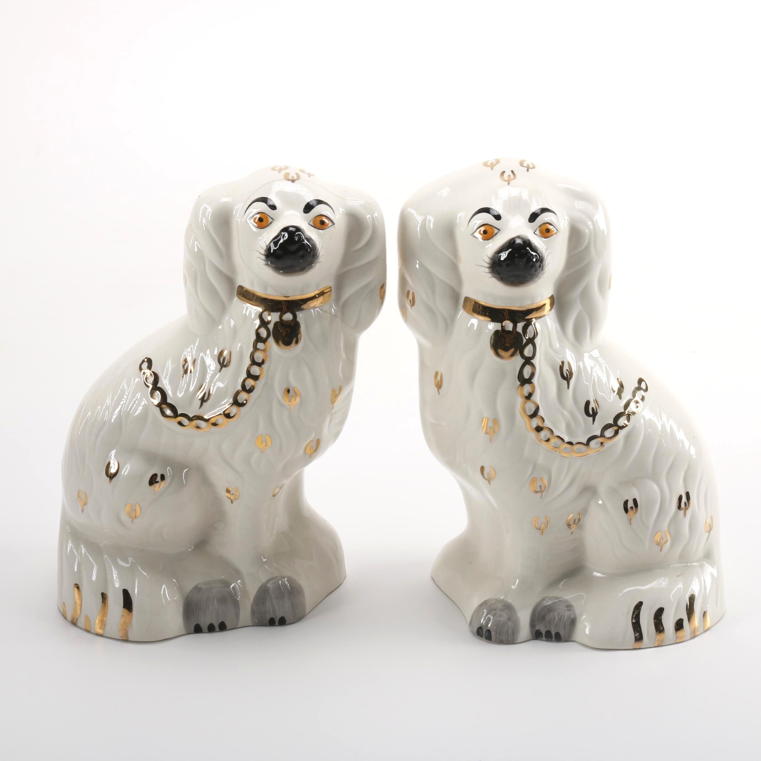 Pair of Beswick Porcelain Dog Figurines