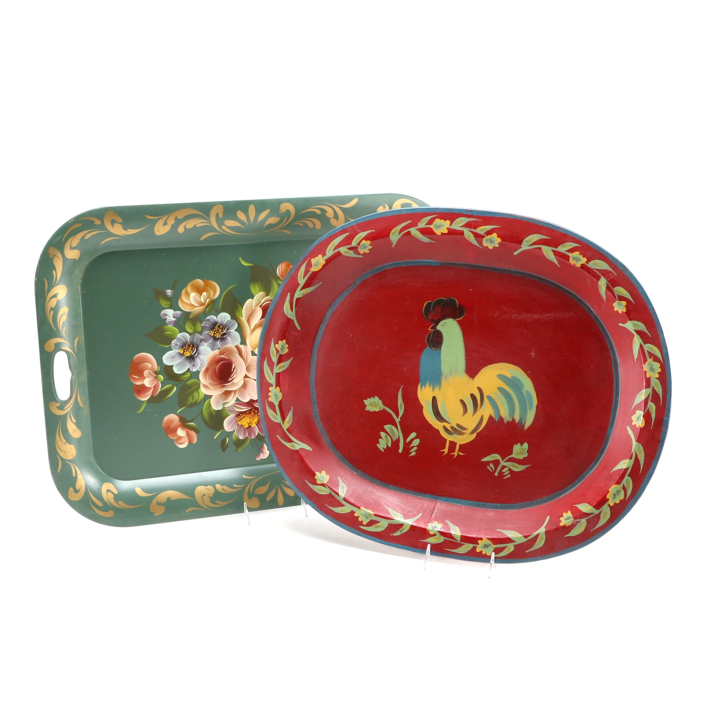 Hand Painted Metal Trays